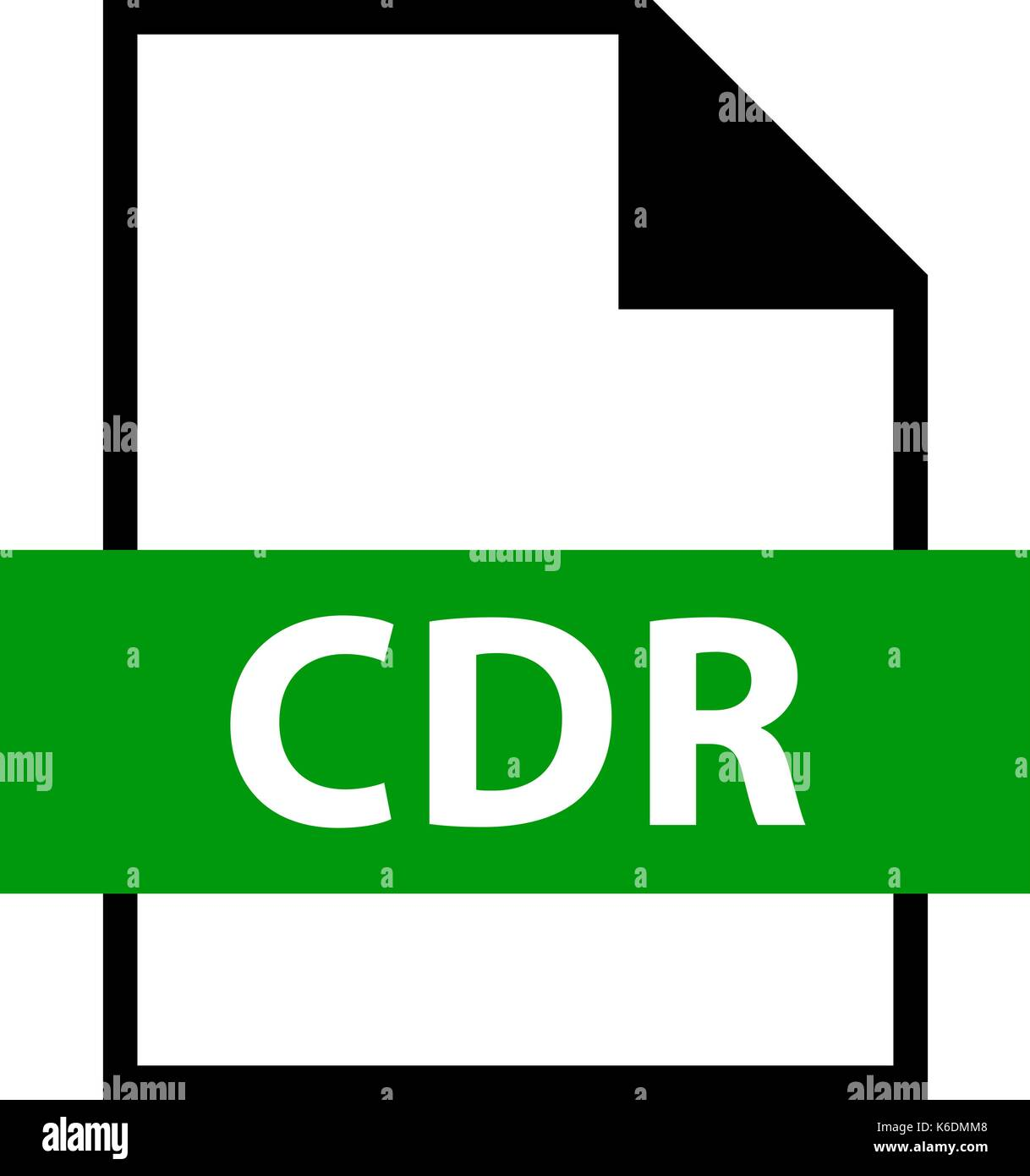 Use it in all your designs. Filename extension icon CDR CorelDRAW file format in flat style. Quick and easy recolorable shape. Vector illustration - Stock Image