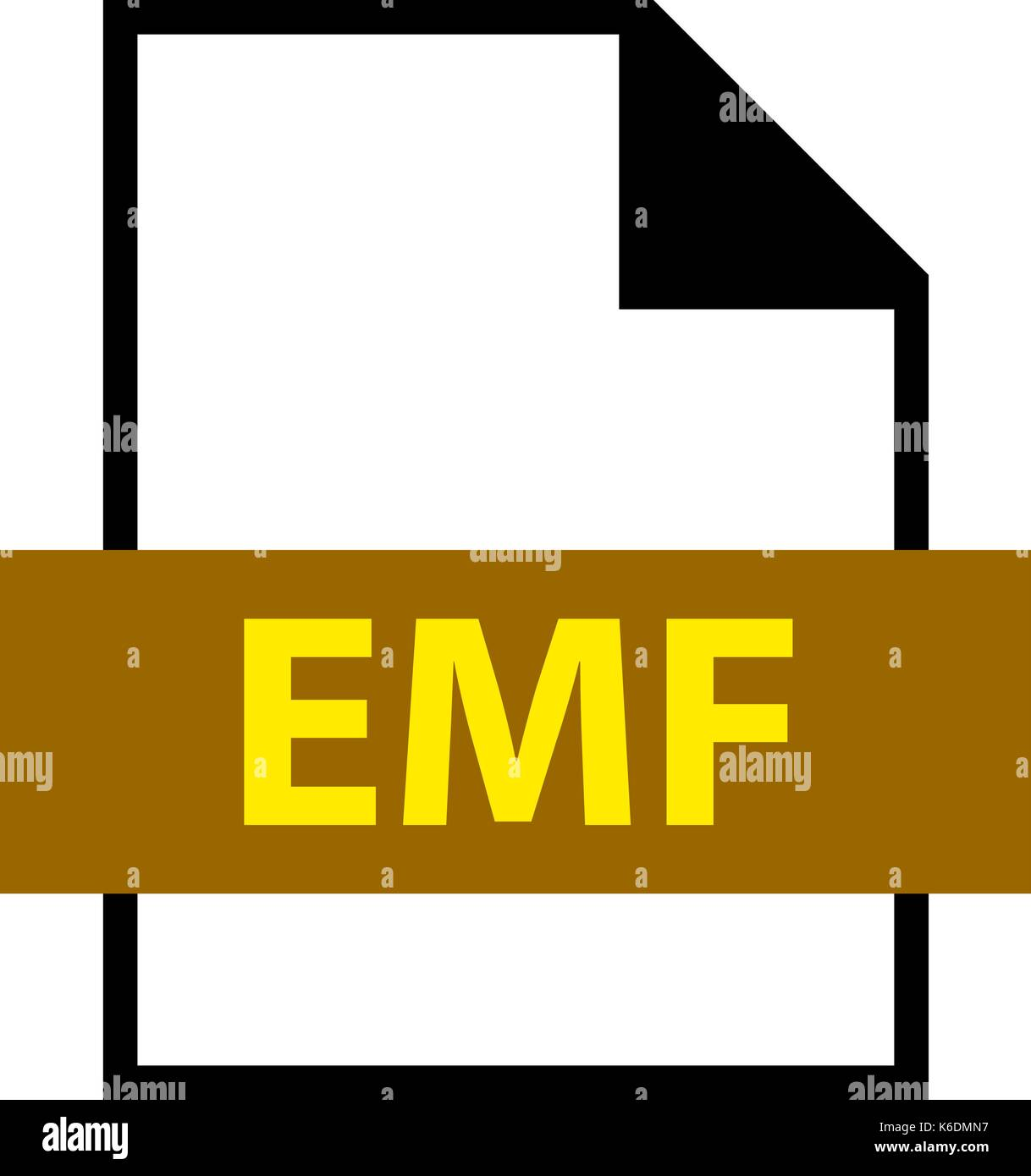 Use it in all your designs. Filename extension icon EMF Enhanced MetaFile in flat style. Quick and easy recolorable shape. Vector illustration - Stock Image