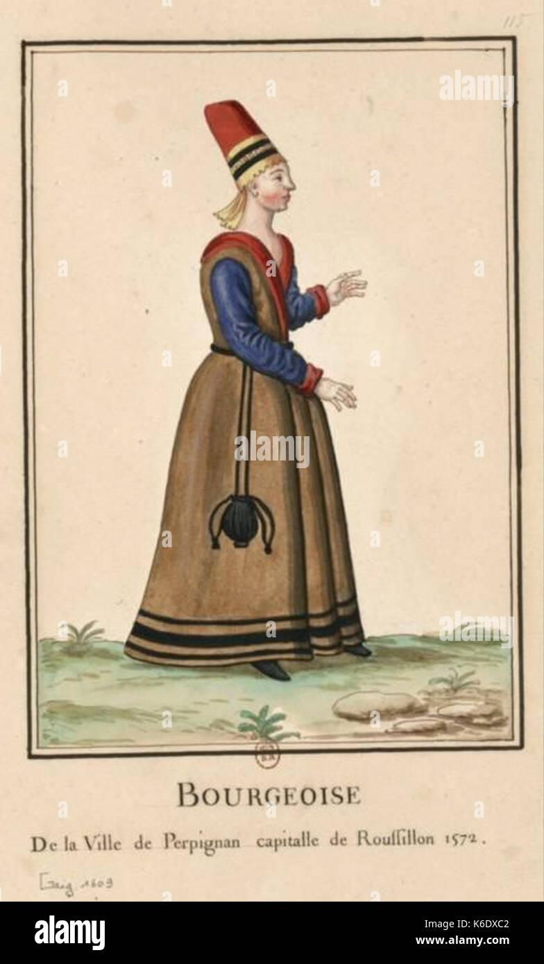 Bourgeoise Perpignan (1572) - Stock Image