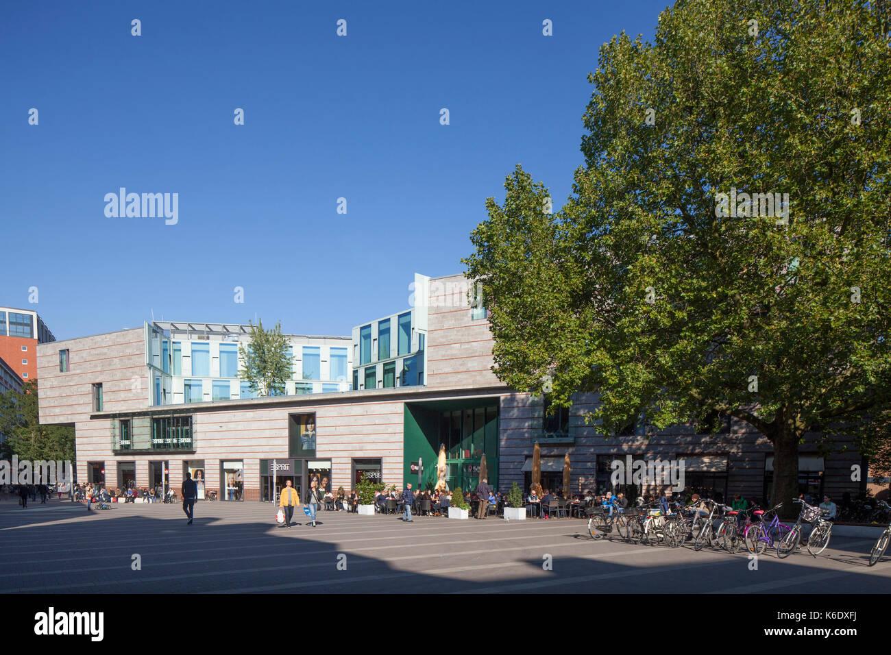 Muenster in Westfalen : Moderne Architektur in Fussgaengerzone Stubengasse I Modern Architecture in Street stubengasse, Stock Photo