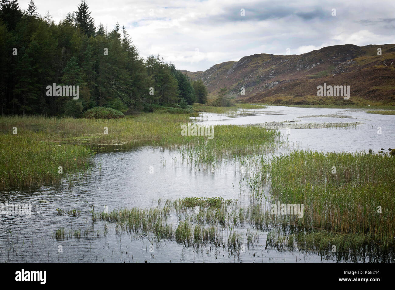 Loch Dubhaird Mor, Sutherland, Scotland - Stock Image