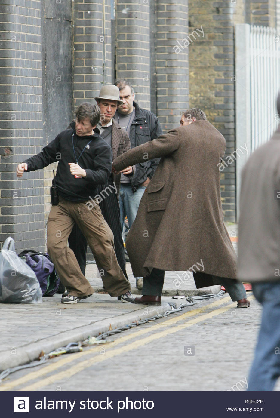 Fight Scenes Are Like Learning A Dance You Learn It Move: Stunt Men Rehearsing A Fight Scene. Guy Ritchie And Jude