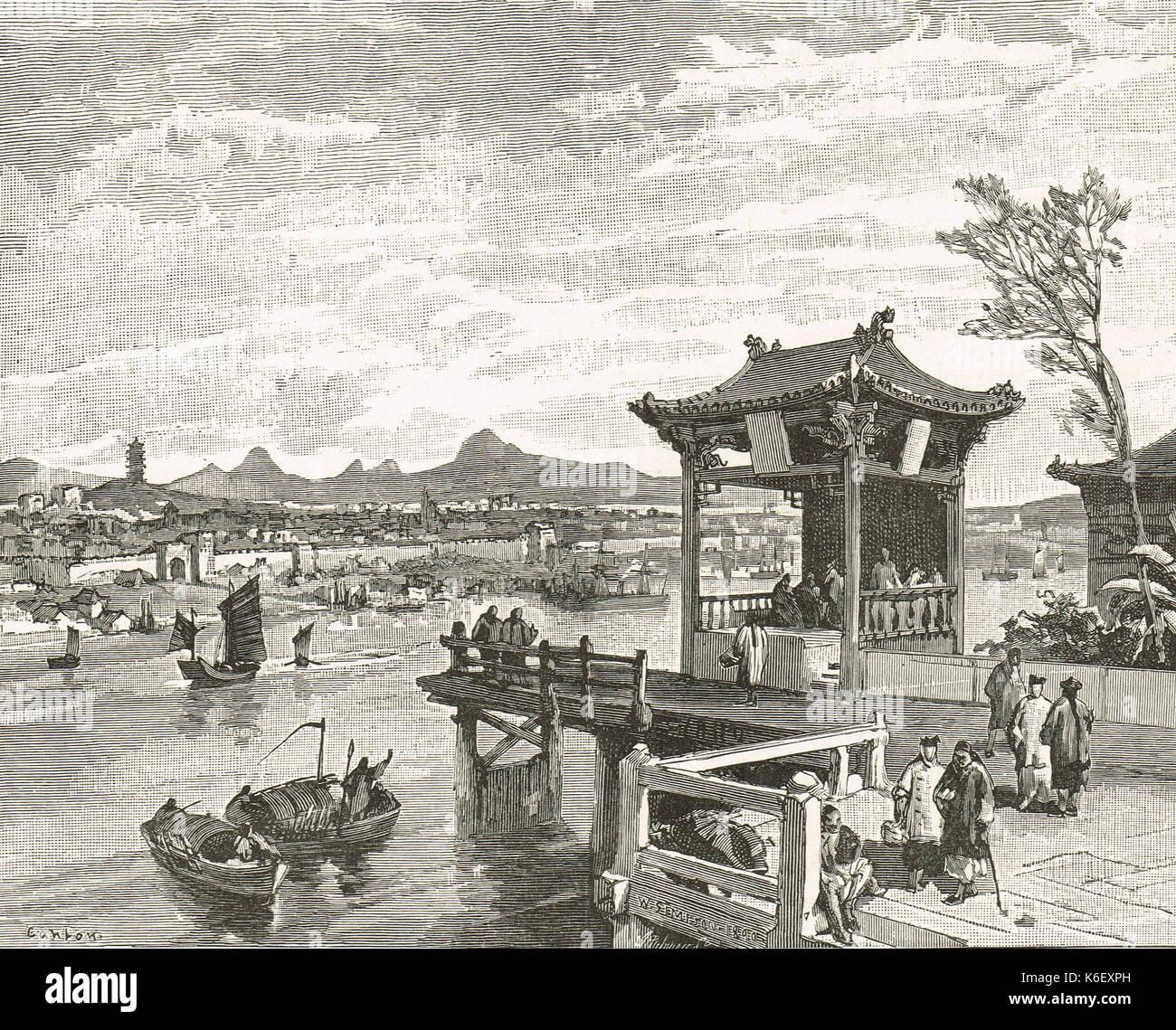 Canton (Guangdong), China, circa 1830s - Stock Image