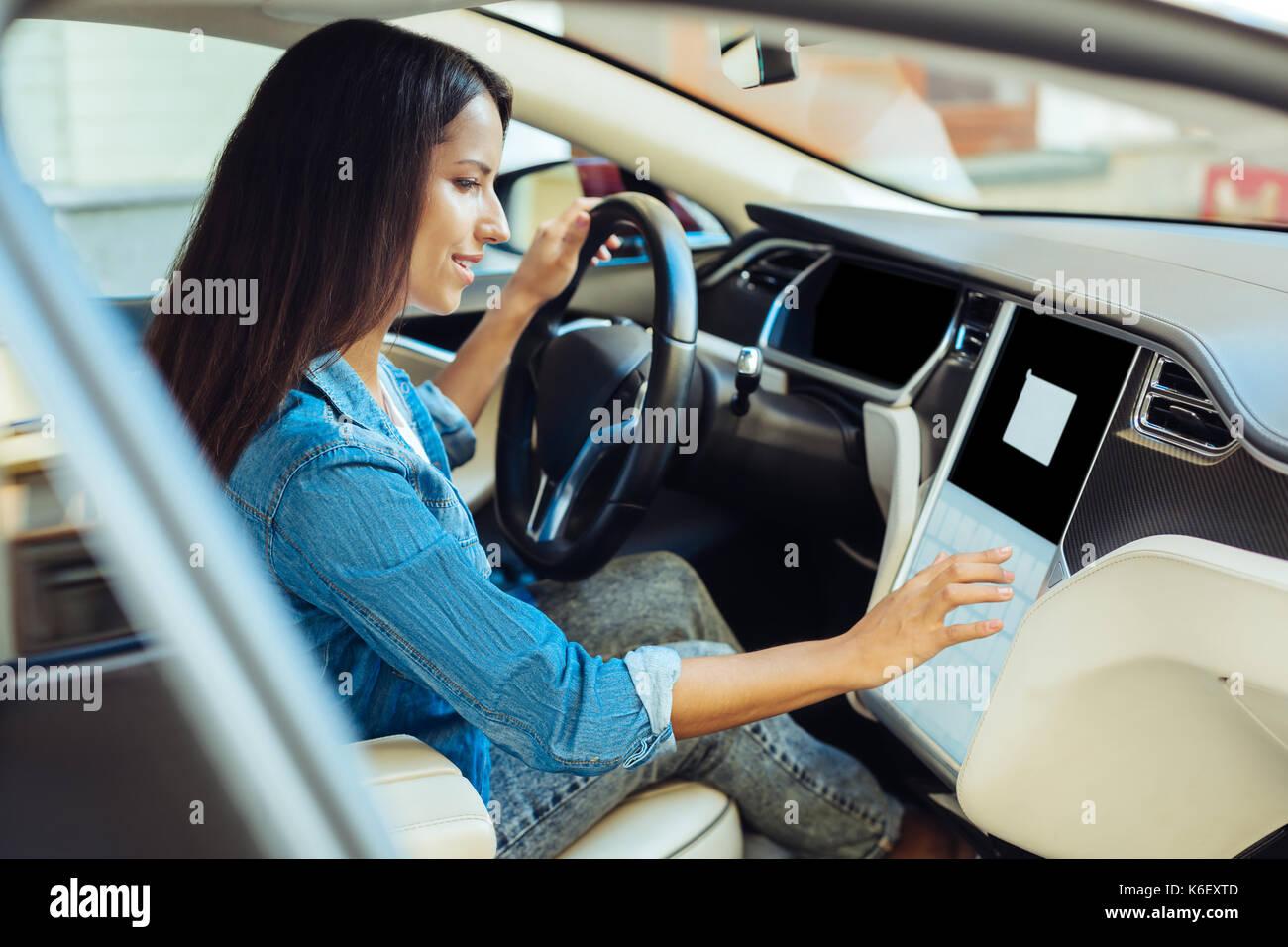 Woman Starting Car Stock Photos & Woman Starting Car Stock