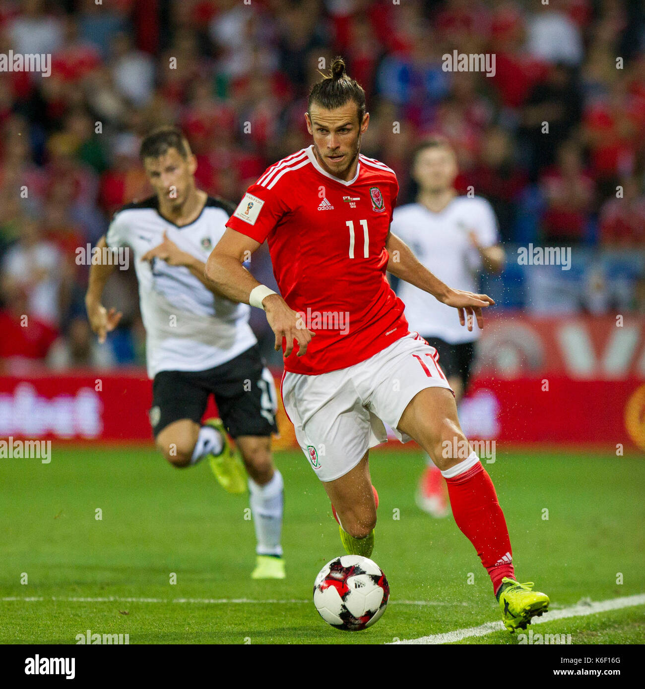 Gareth Bale Of Wales During The Fifa World Cup 2018 Qualification Match Between And Austria September 2nd 2017