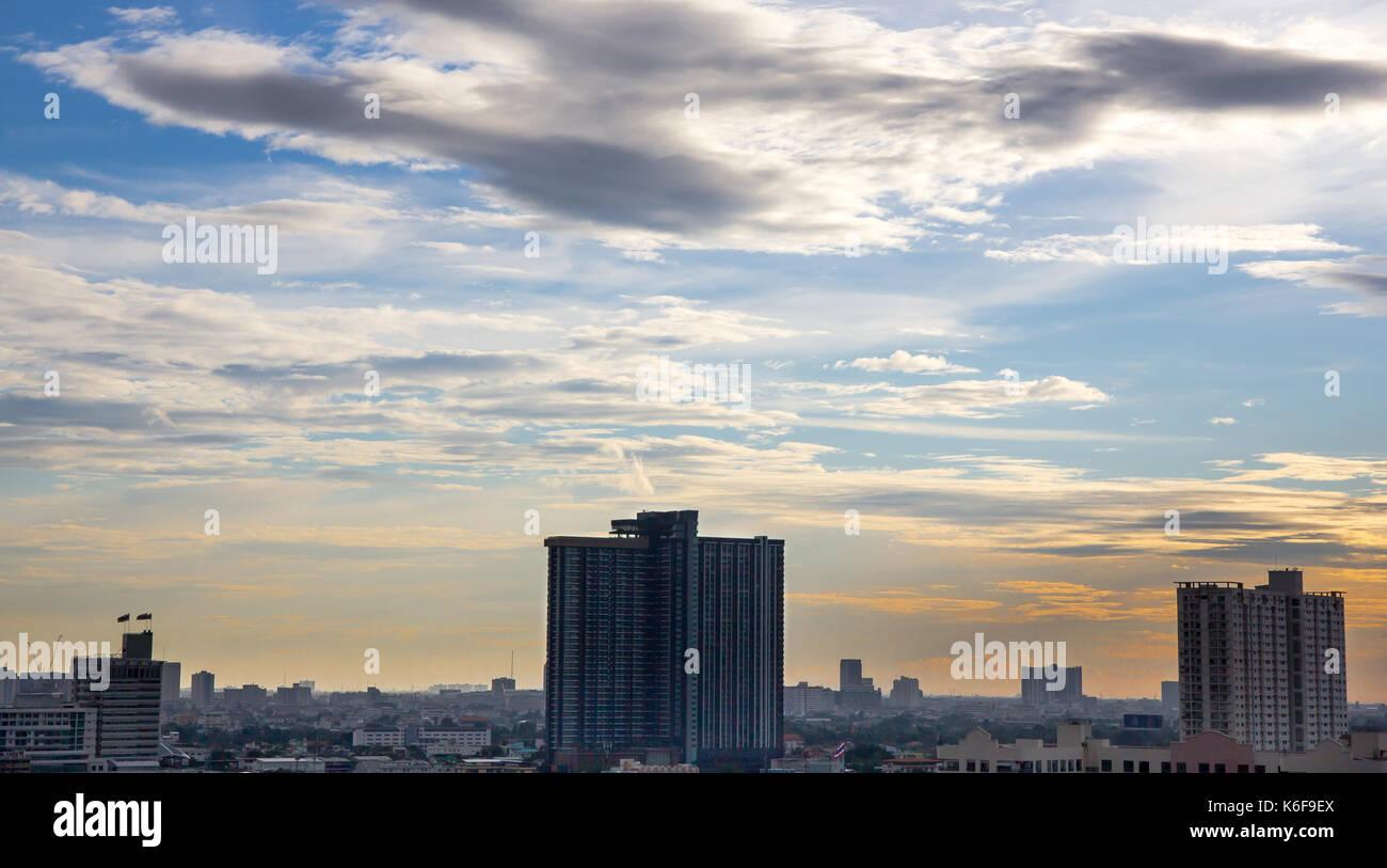 View of sky in Bangkok - Stock Image