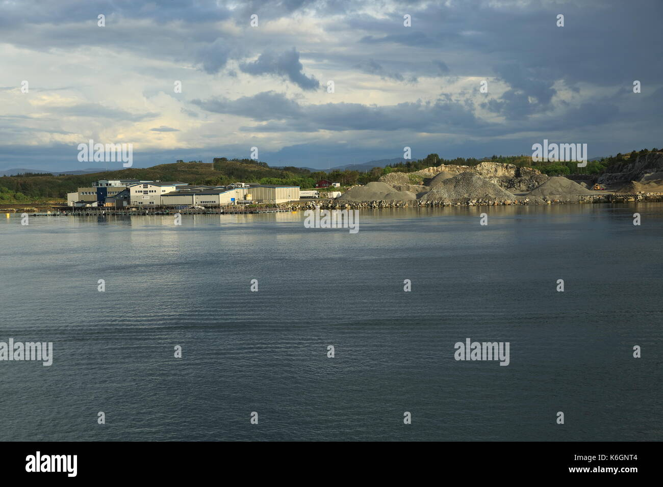 Quarrying industry Rorvik in the municipality of Vikna in Nord-Trøndelag county, Norway - Stock Image
