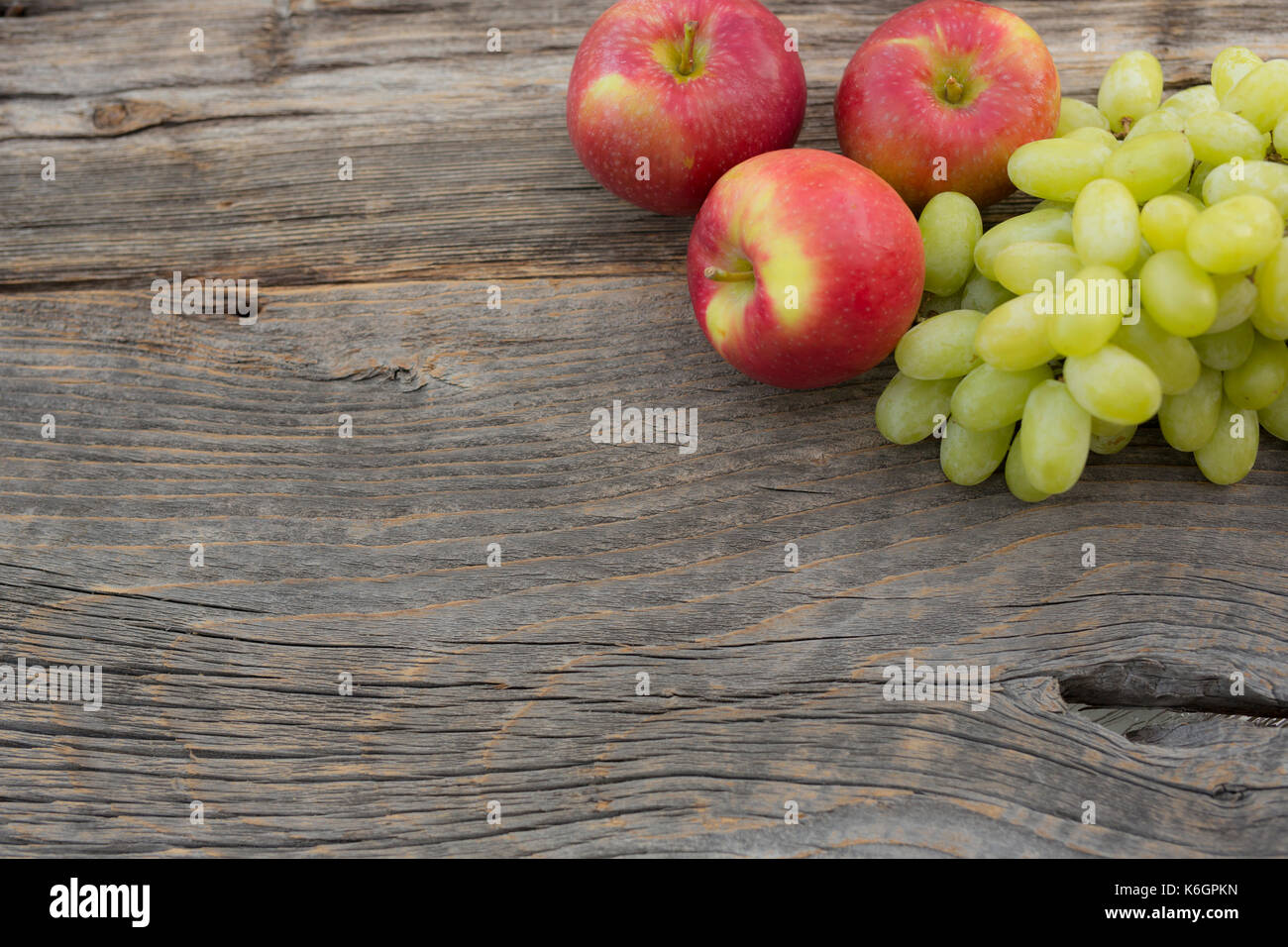 Season of apple picking and all kind of assessors are placed just for the occasion. Stock Photo