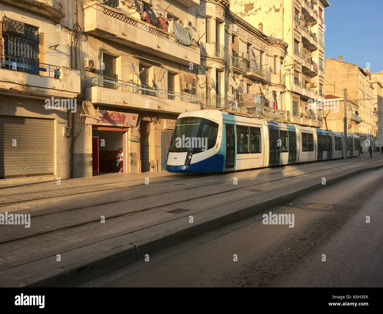 Algerian National Society of Railway Transport.Central train station of Algier.The SNTF a state-owned company currently has a monopoly over Algeria's - Stock Image