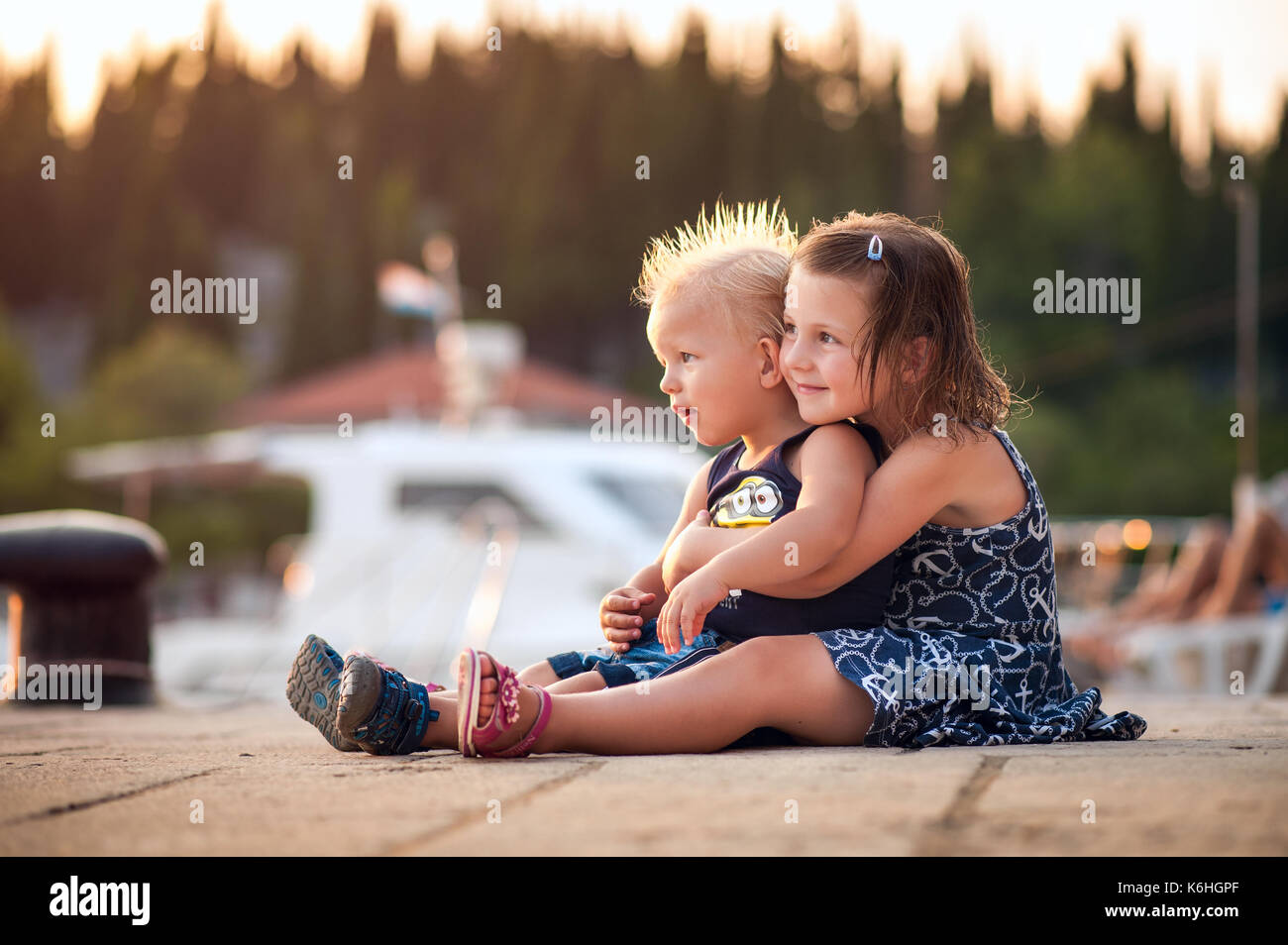 childern on a vacation - Stock Image