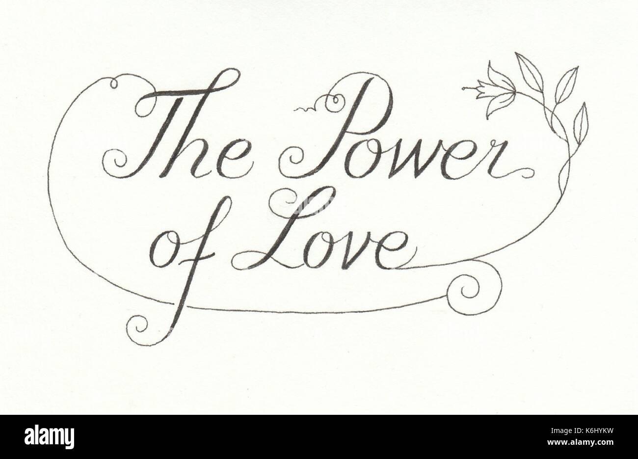 Power of Love - Stock Image