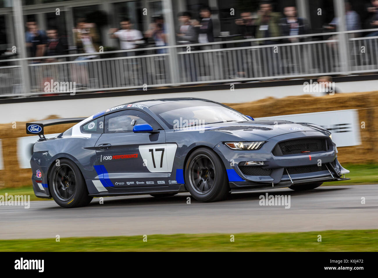 2017 ford mustang gt4 endurance racer with driver billy johnson at