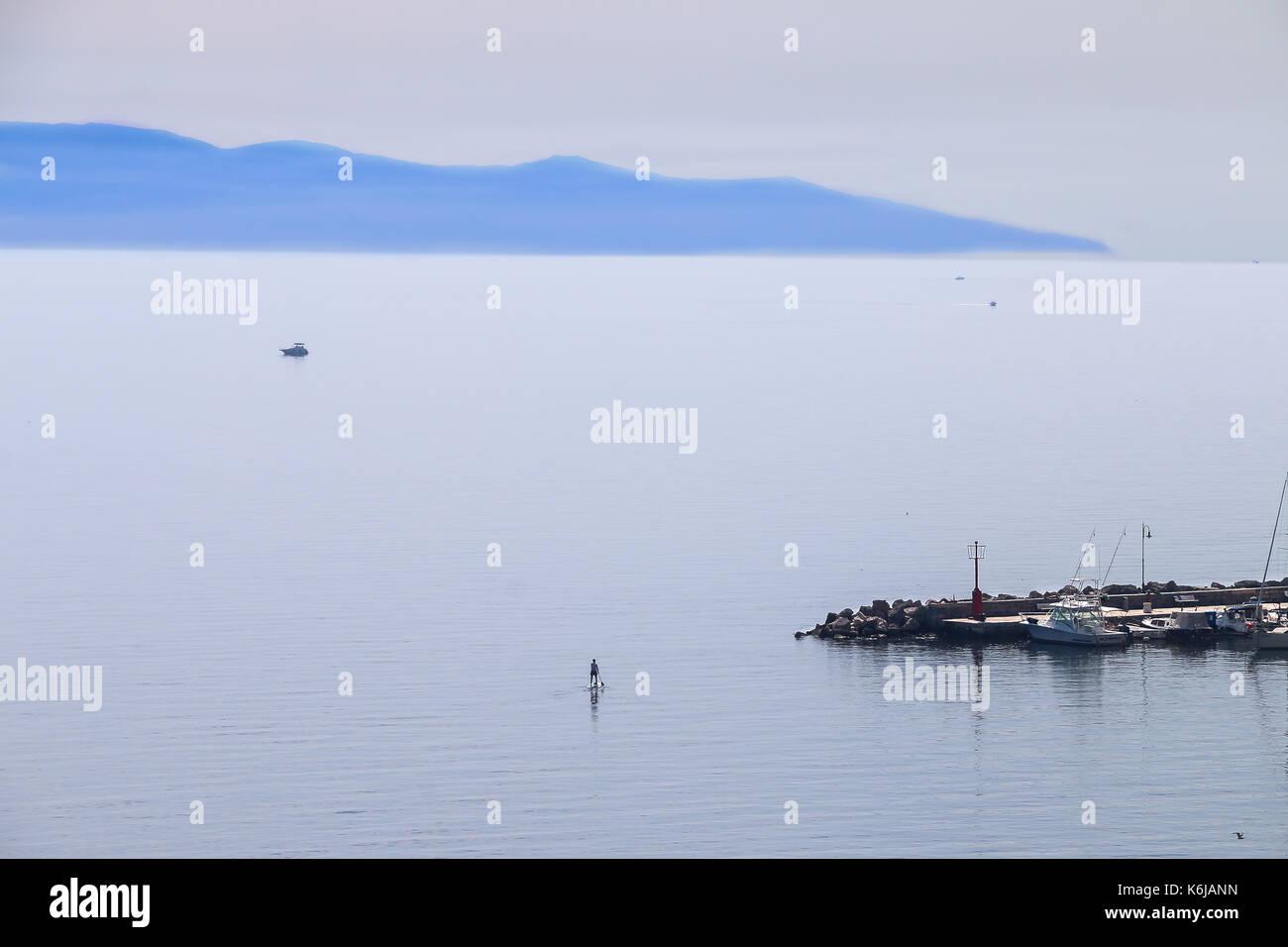 Volosko, Croation Adriatic Haze - Stock Image