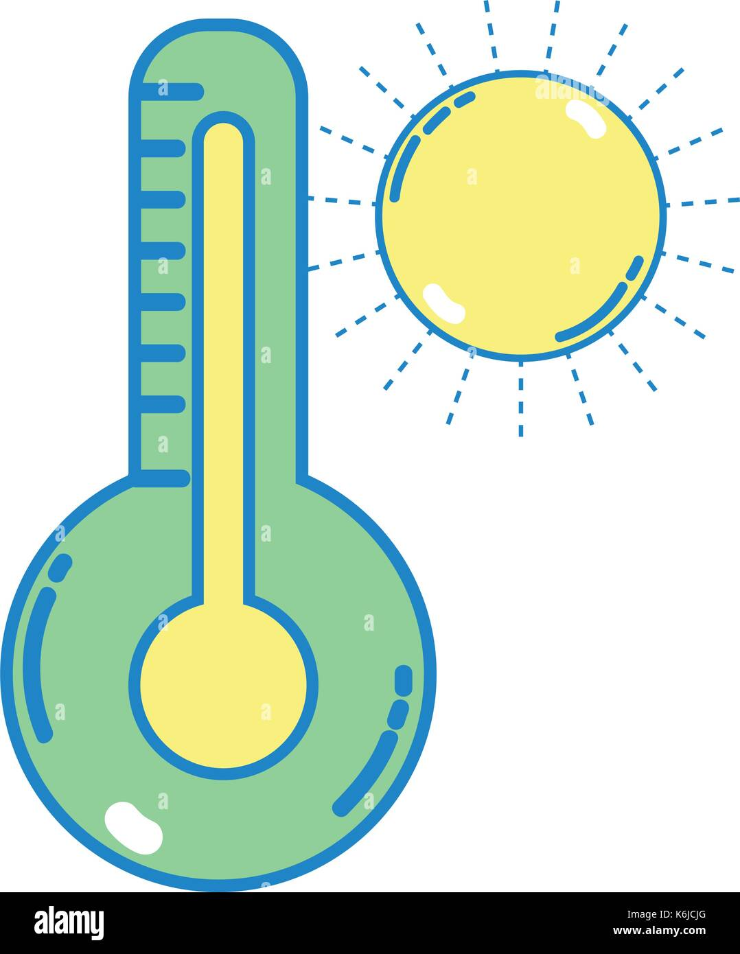 thermometer measure instrument to know the temperature - Stock Image