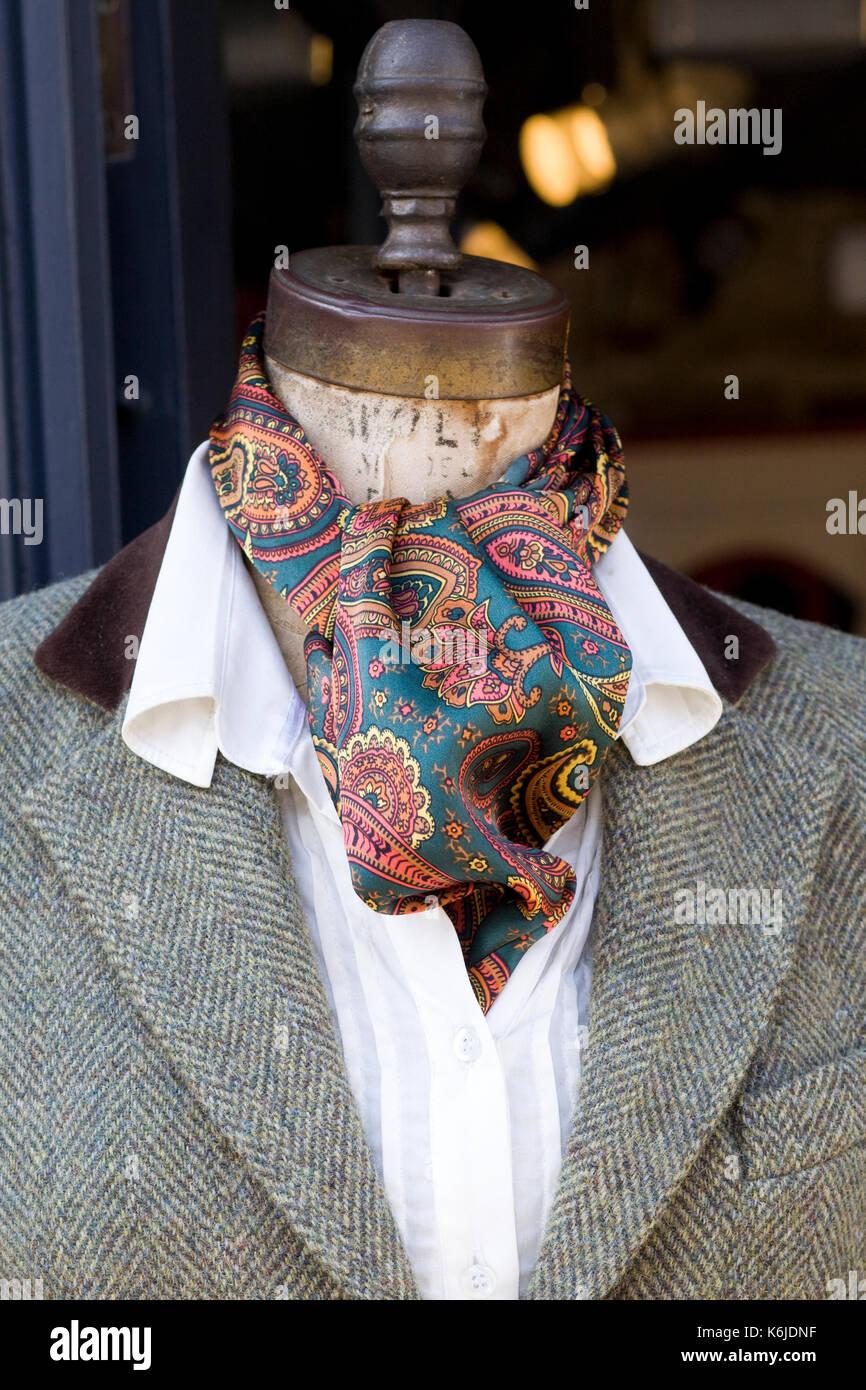decorative tween jacket and neckerchief - Stock Image