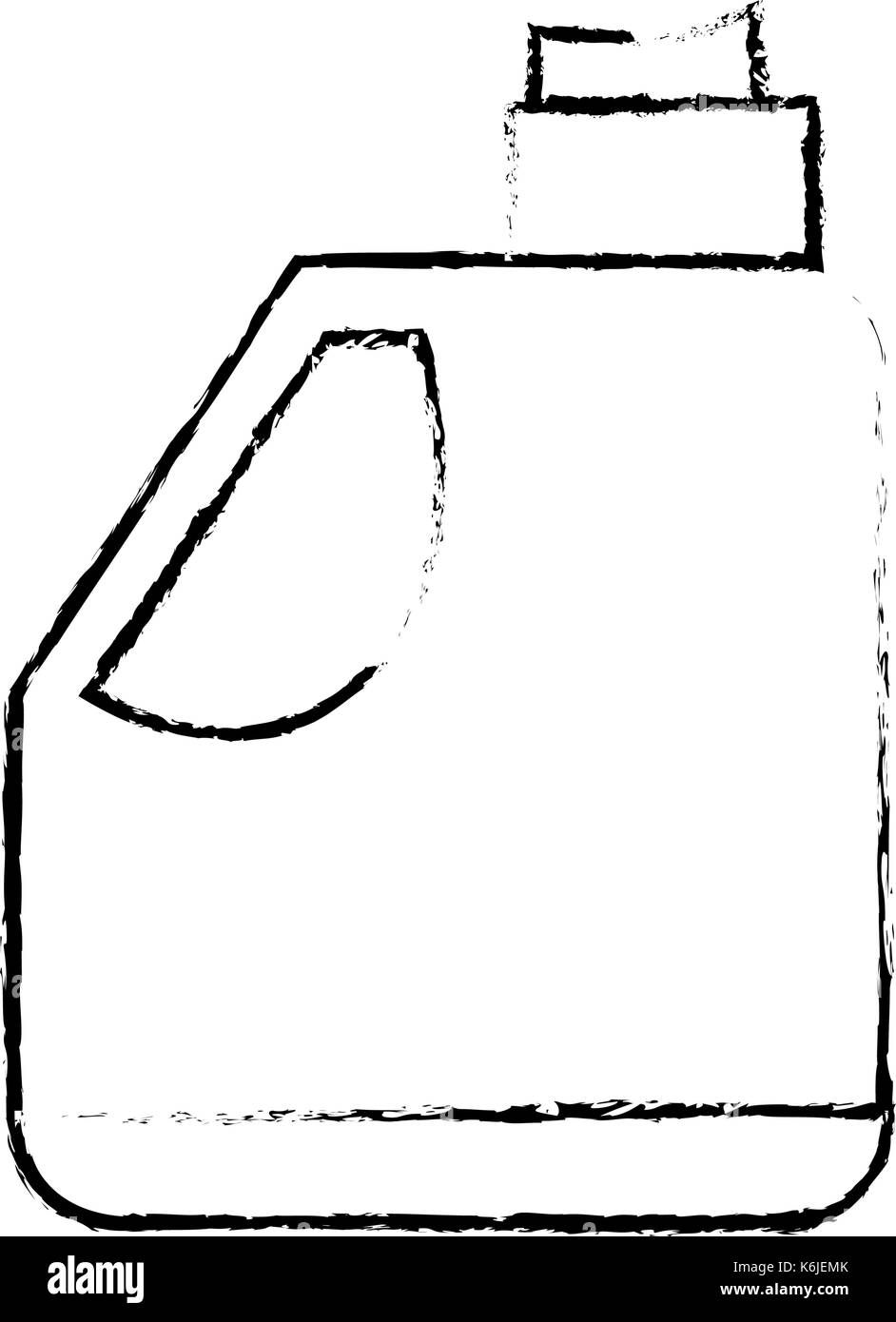 figure gasoline bottle to car industrial equipment - Stock Image