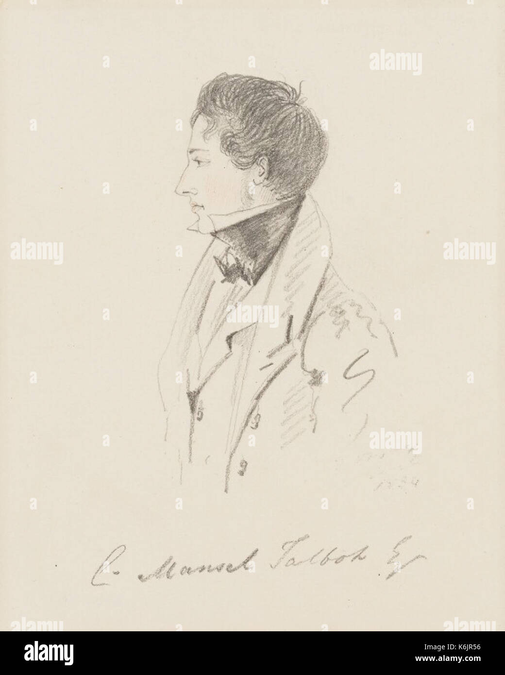 Christopher Rice Mansel Talbot by Alfred Count D'Orsay in 1834 - Stock Image