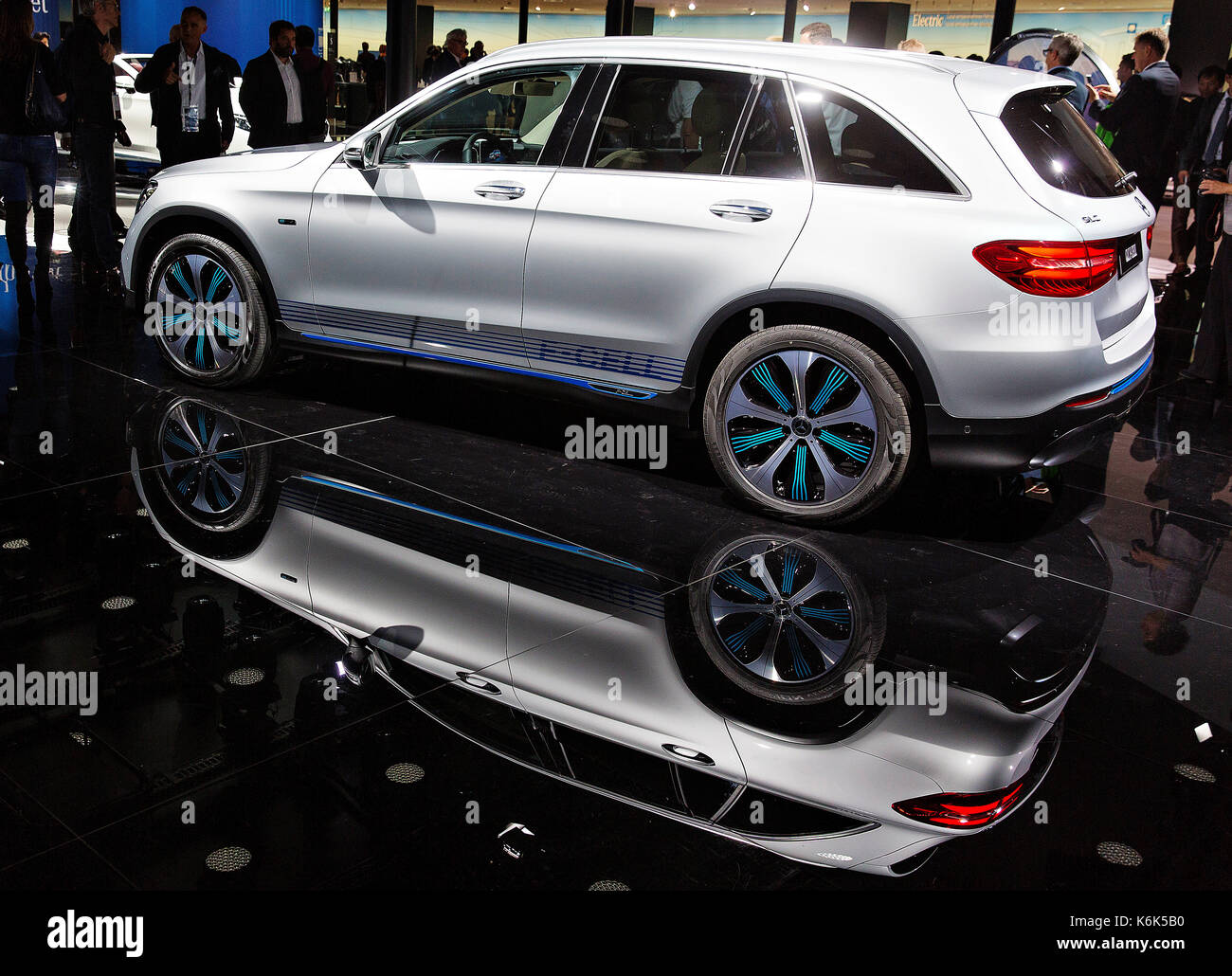 67th International Motorshow in Frankfurt,Mercedes-Benz GLC F-Cell - Stock Image