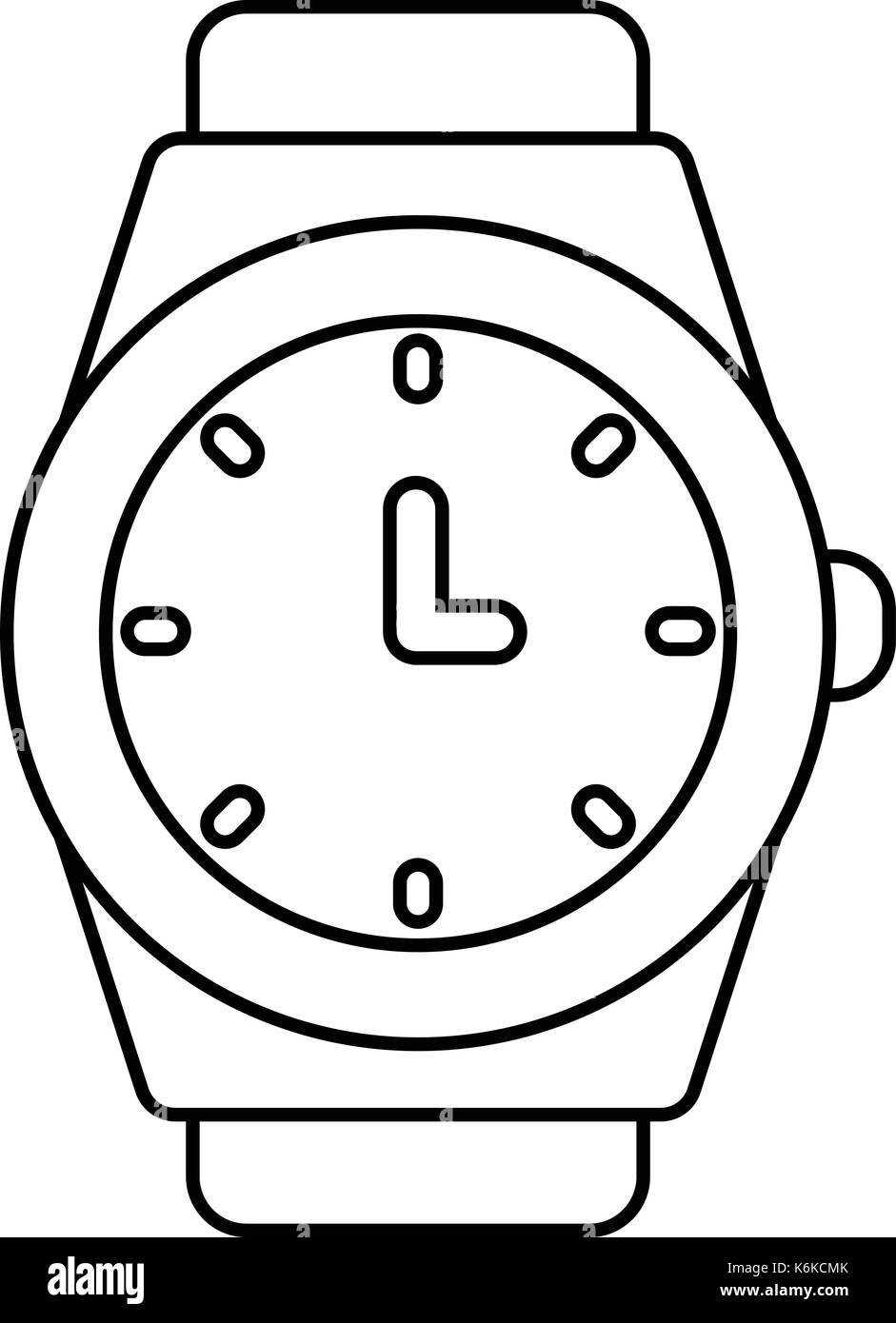 Wristwatch icon , outline style - Stock Image