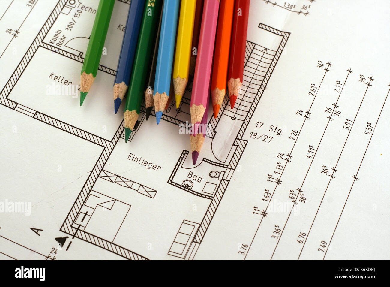 Kalkulieren Farbig Stock Photo