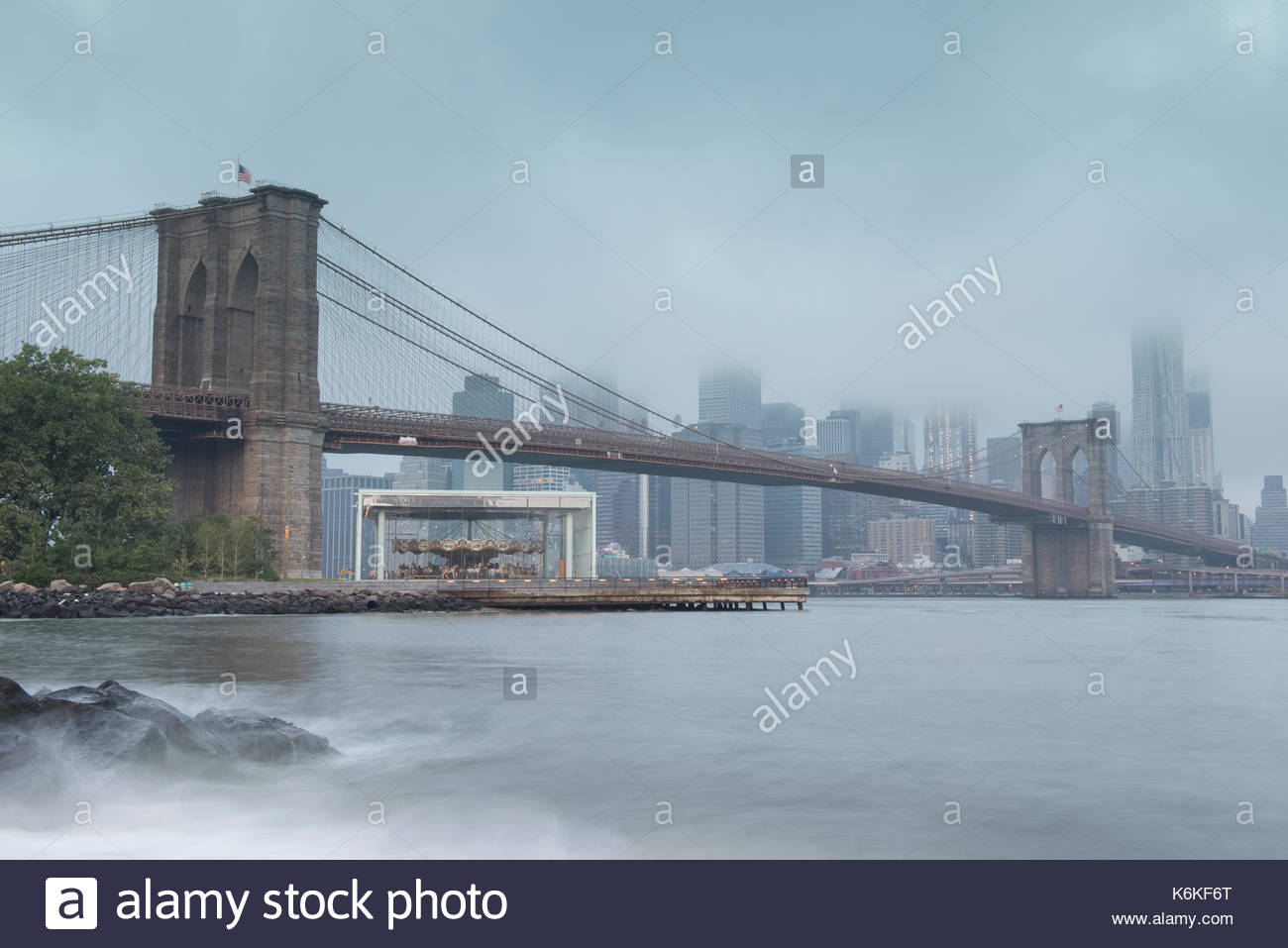 Brooklyn, Brooklyn Bridge Park, New York, USA. - Stock Image