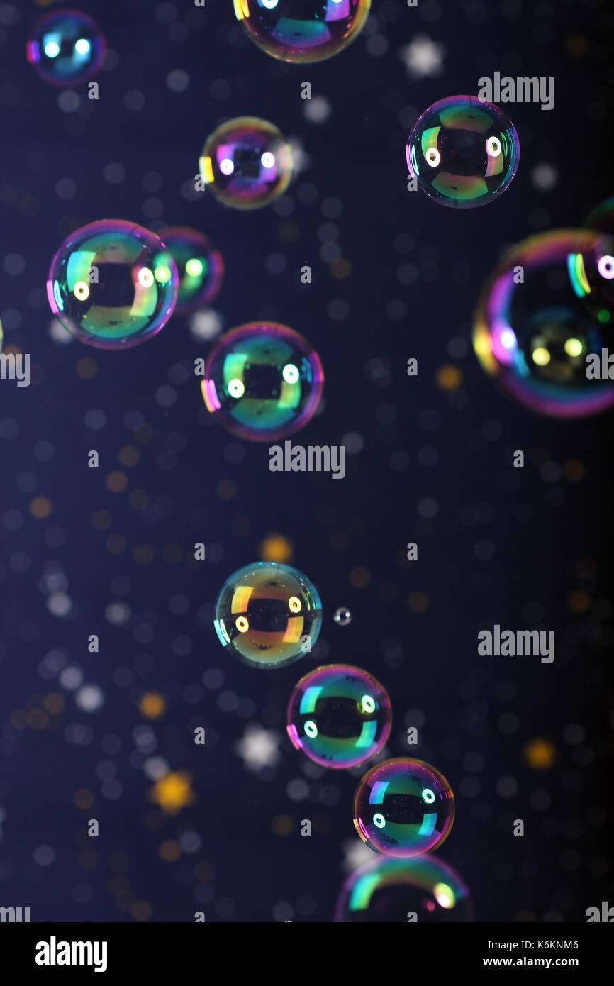 Seifenblasen, soap bubbles, - Stock Image