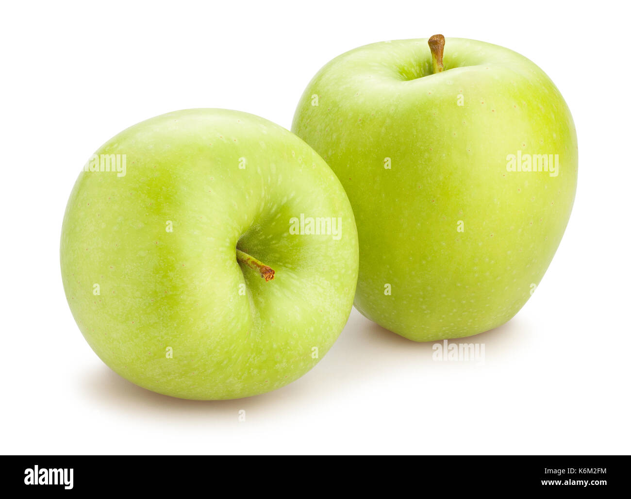 green apple path isolated - Stock Image