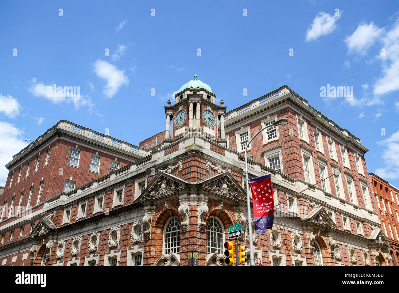 Corn Exchange National Bank Building, Old City, Philadelphia, Pennsylvania, United States - Stock Image