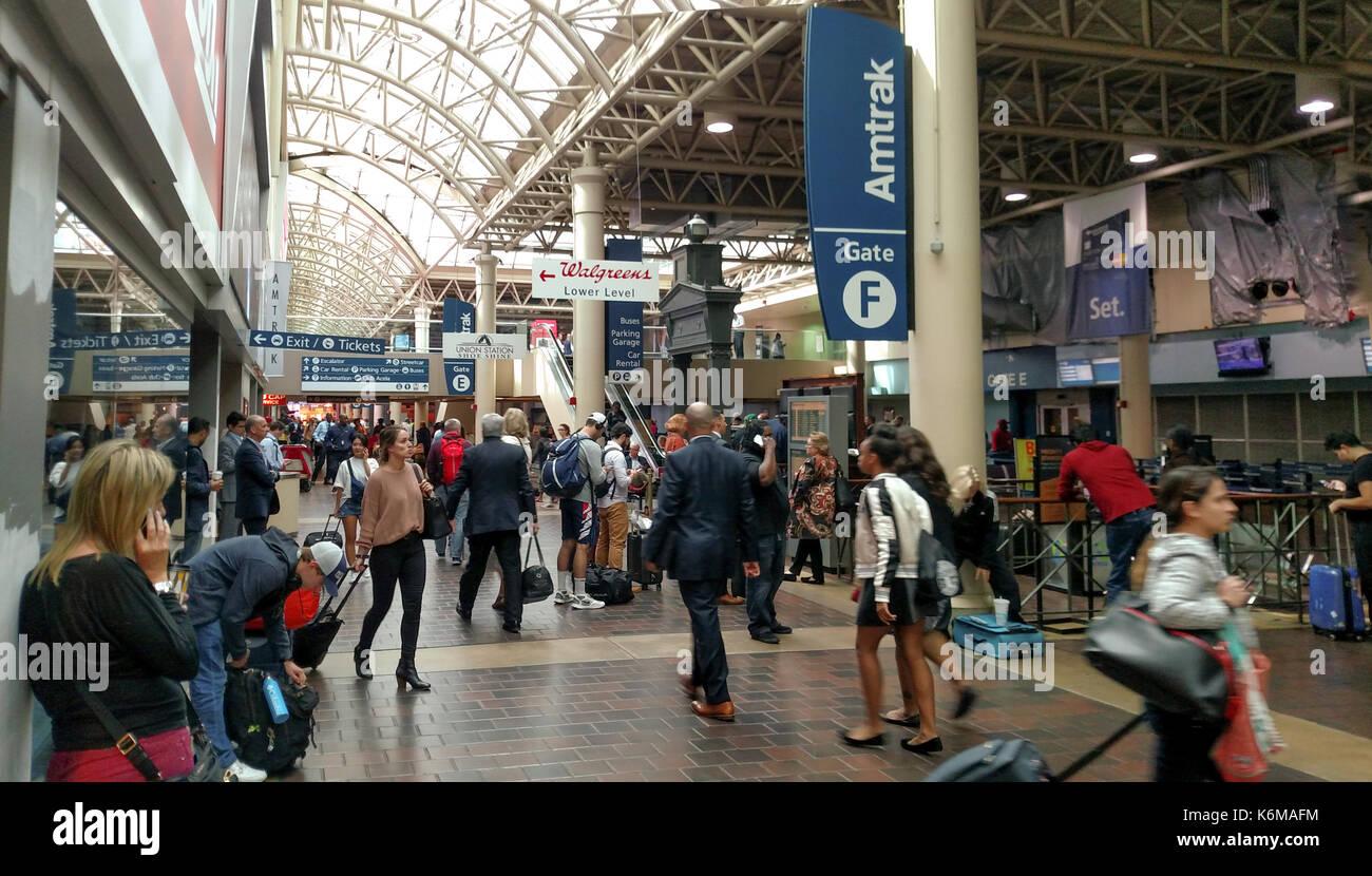 7b678bf409 Amtrak Gate F in Union Station, Washington, DC Stock Photo ...