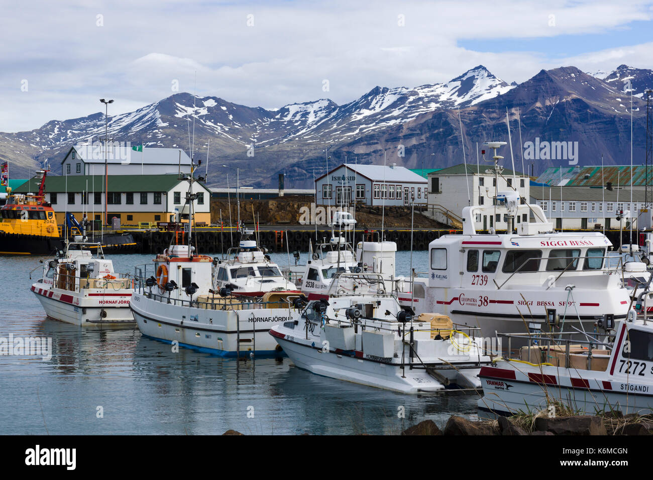 Höfn harbour in southeastern Iceland Stock Photo