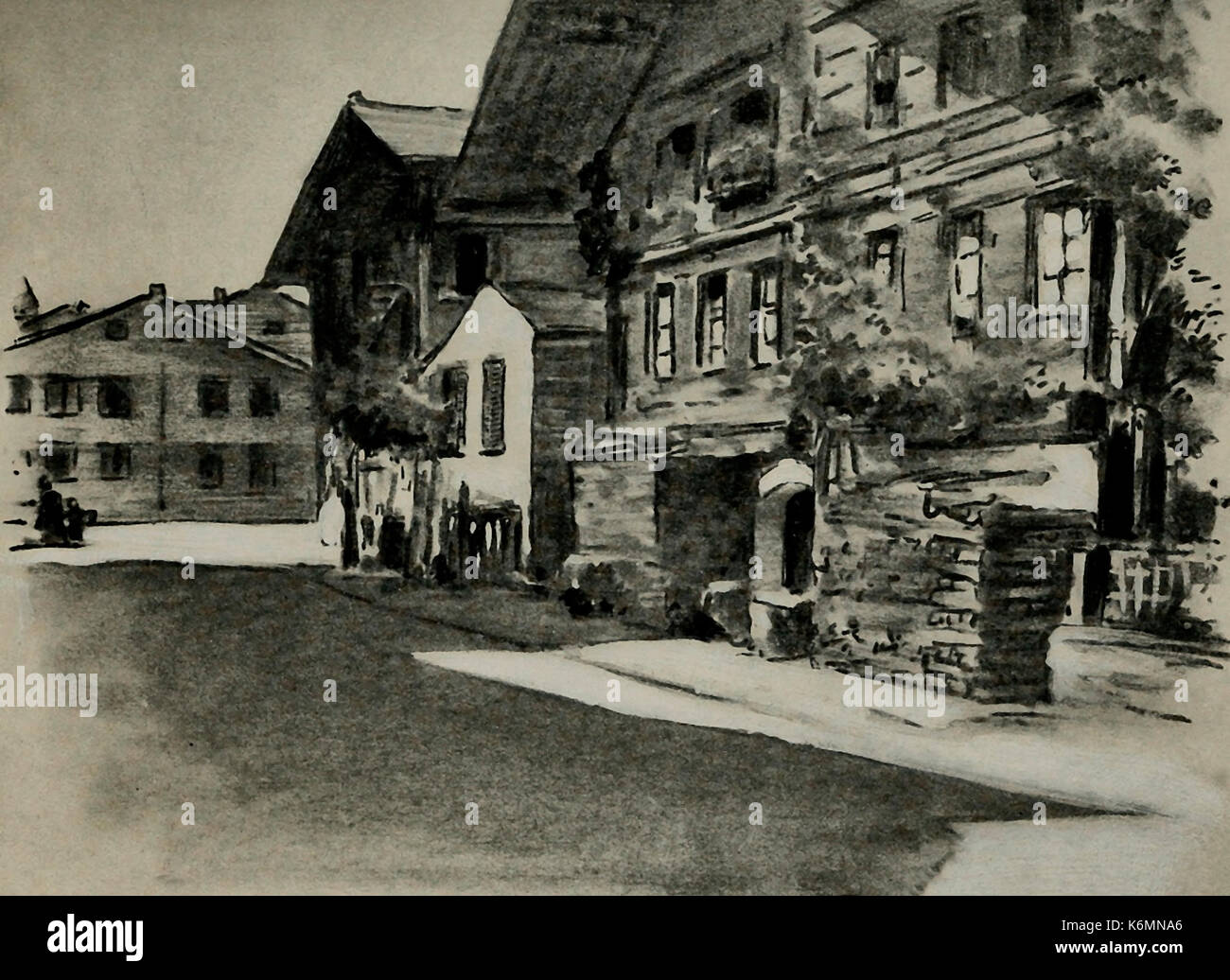 Interlaken, Switzerland, circa 1900 - Stock Image