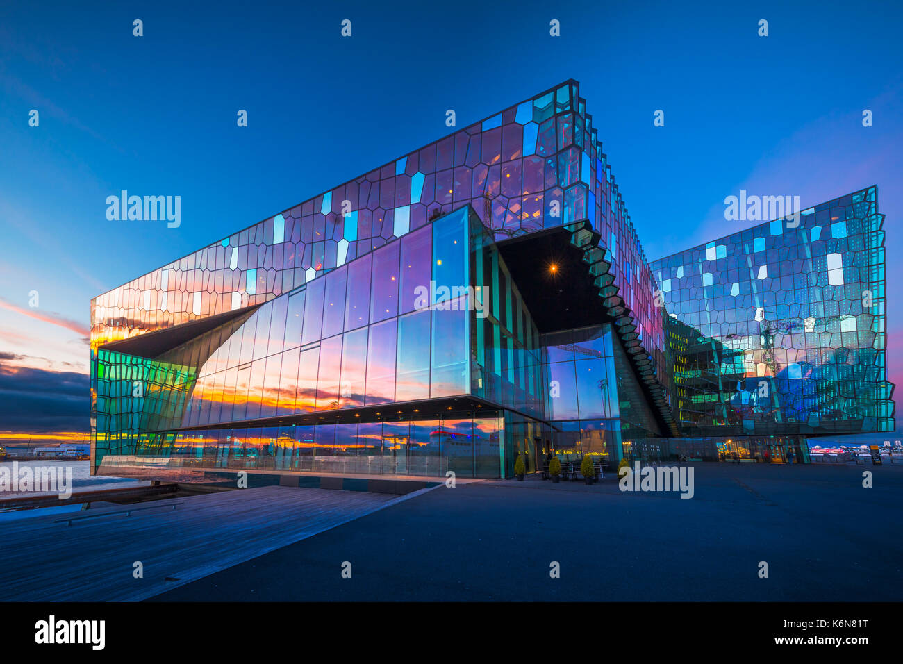 Harpa is a concert hall and conference centre in Reykjavík, Iceland. The opening concert was held on May 4, 2011. The building features a distinctive  - Stock Image