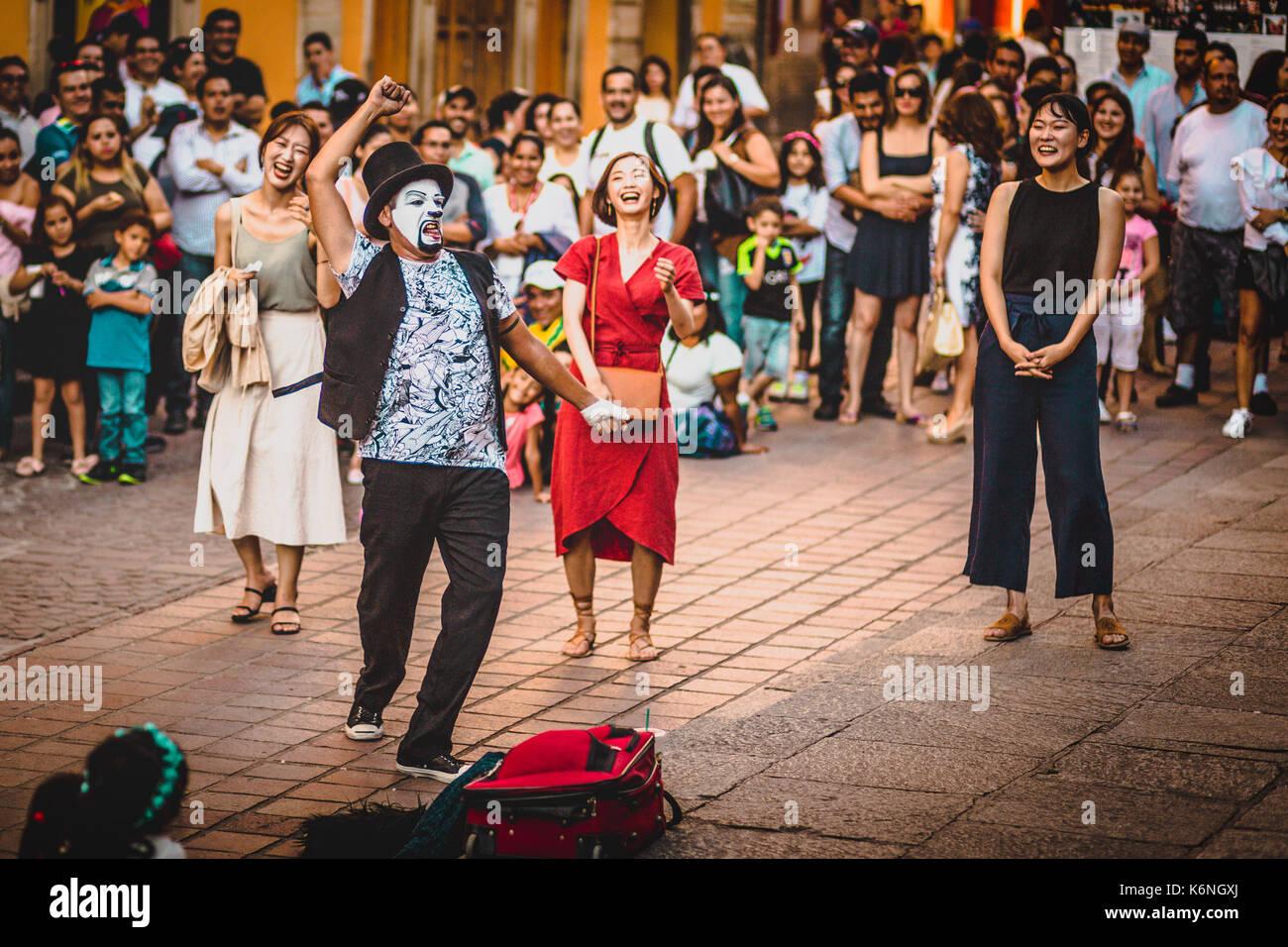 street mime - Stock Image