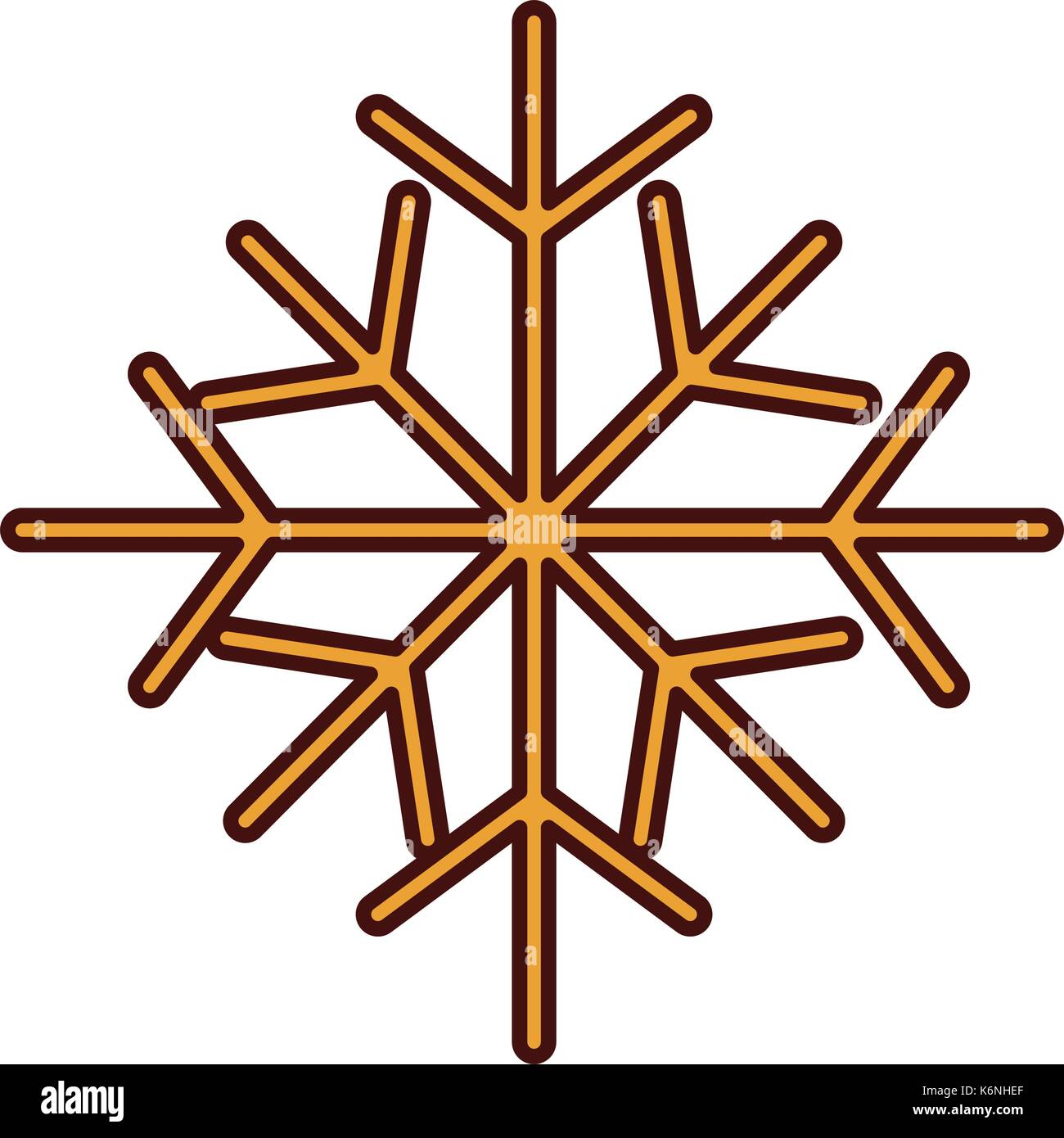 christmas snowflake winter decoration sparkle - Stock Image