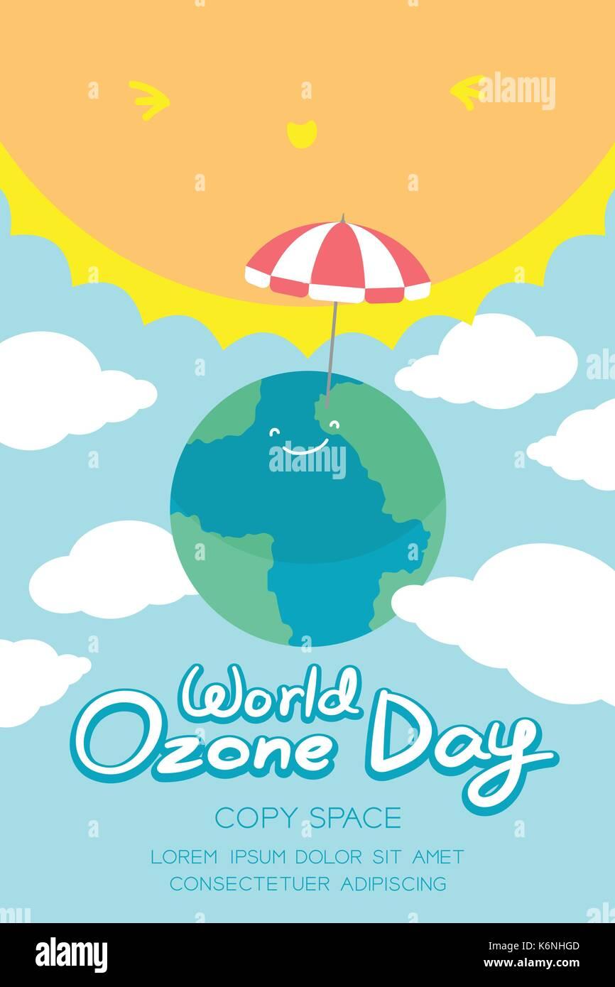 World Ozone Day 16 September vertical Banner set, Global