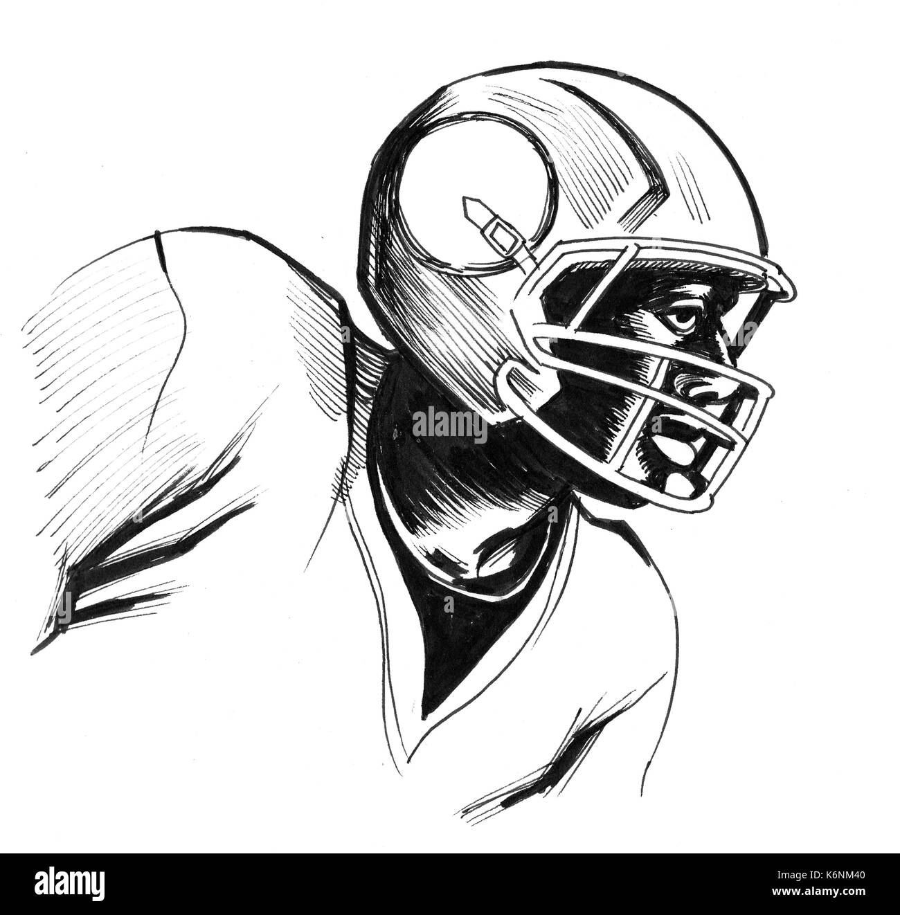 American football player stock image