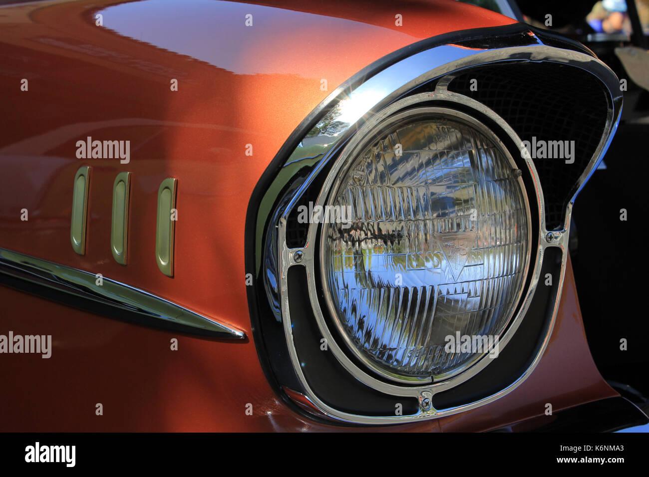 classic car chevy bel air car  at Fairfax California car show Stock Photo