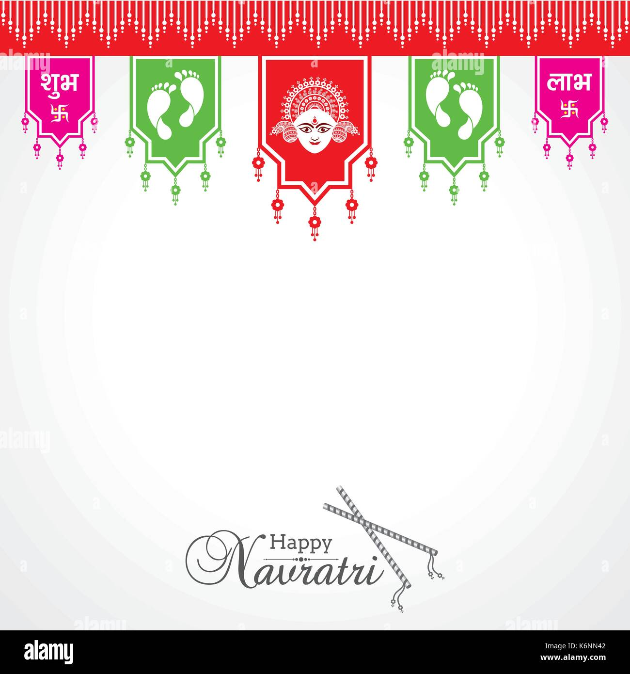 Durga Devi Stock Vector Images Alamy