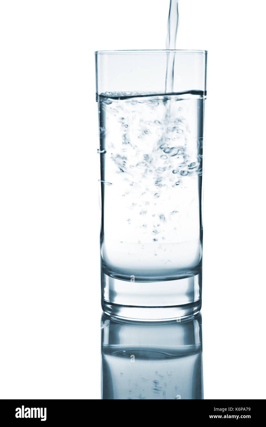 water glass - Stock Image