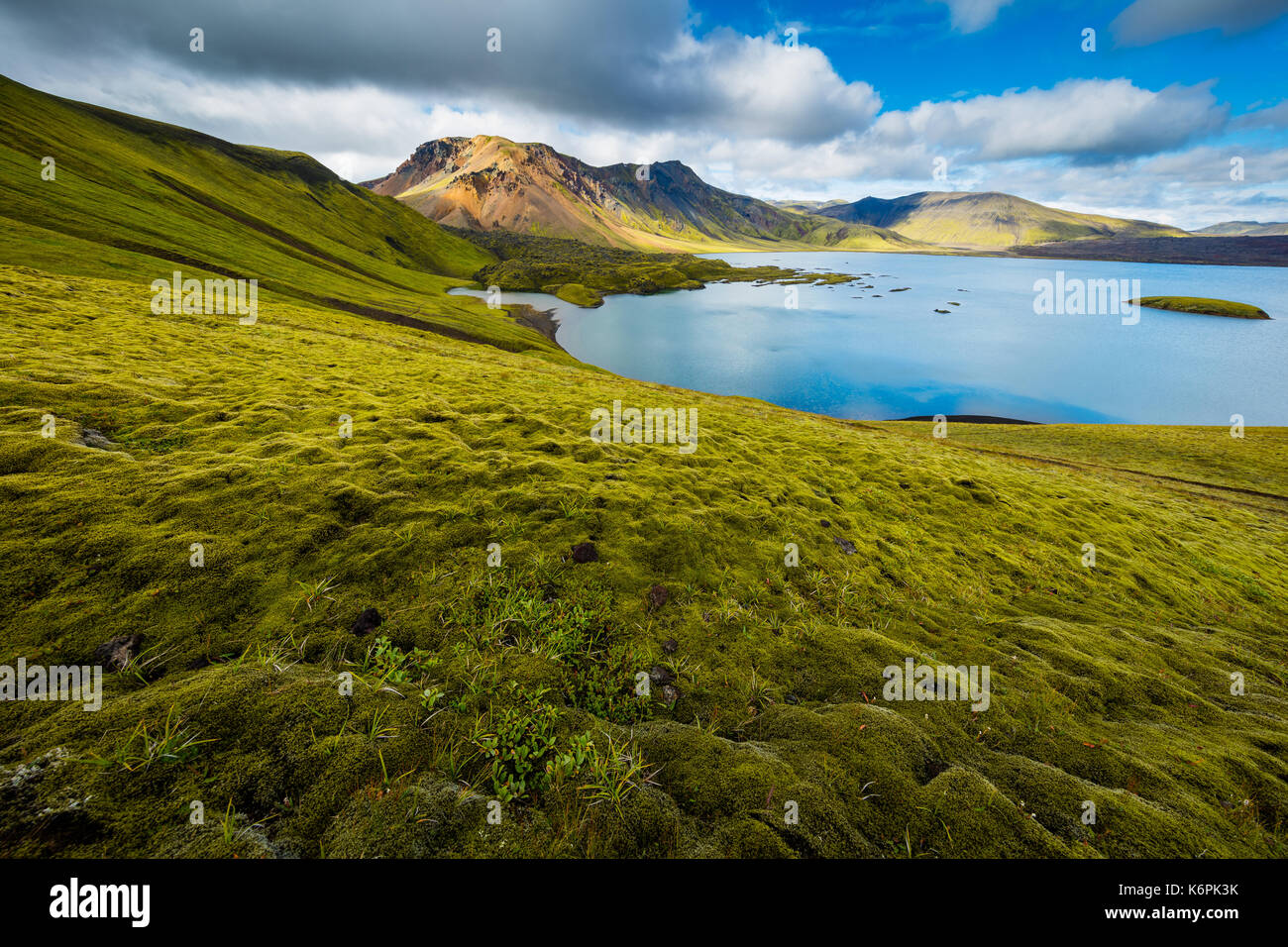Frostastaðavatn (Icelandic for lake of the frosty place) is a lake in Iceland. It is situated in the Highlands of Iceland, not far from the famous mou - Stock Image