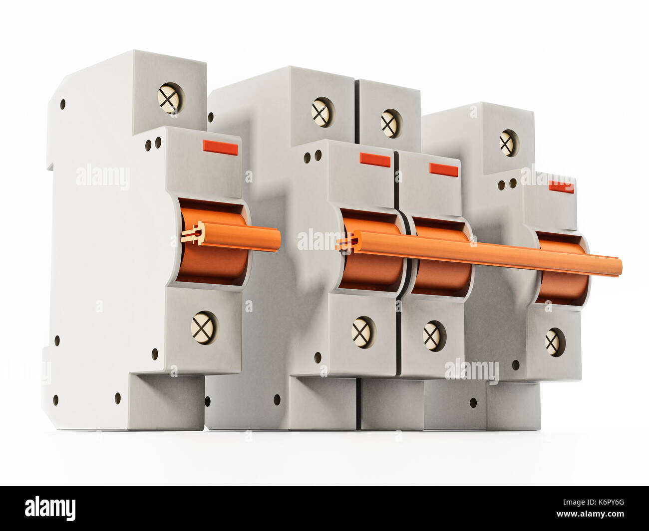 Fuse Box And Meter Stock Photos Images O Isolated On White Background 3d Illustration Image