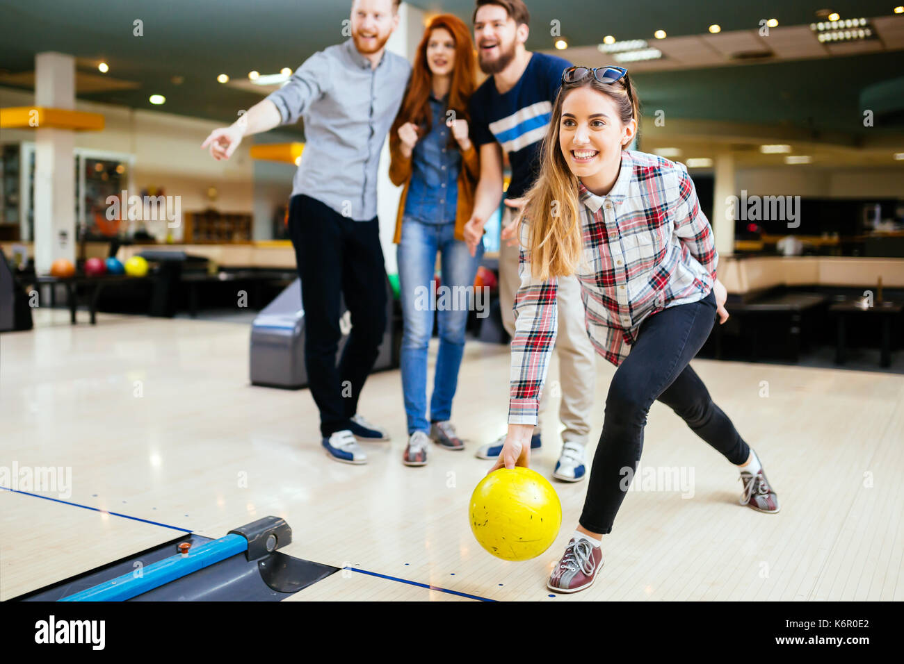 People Bowling Stock Photos & People Bowling Stock Images