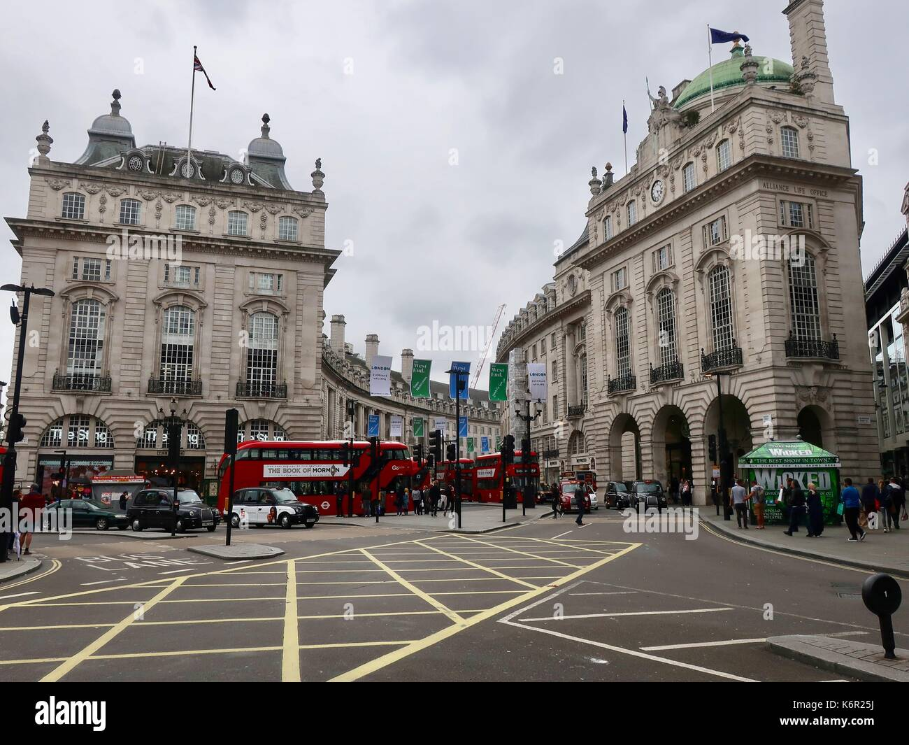 Piccadilly circus and Regent Street, London Stock Photo