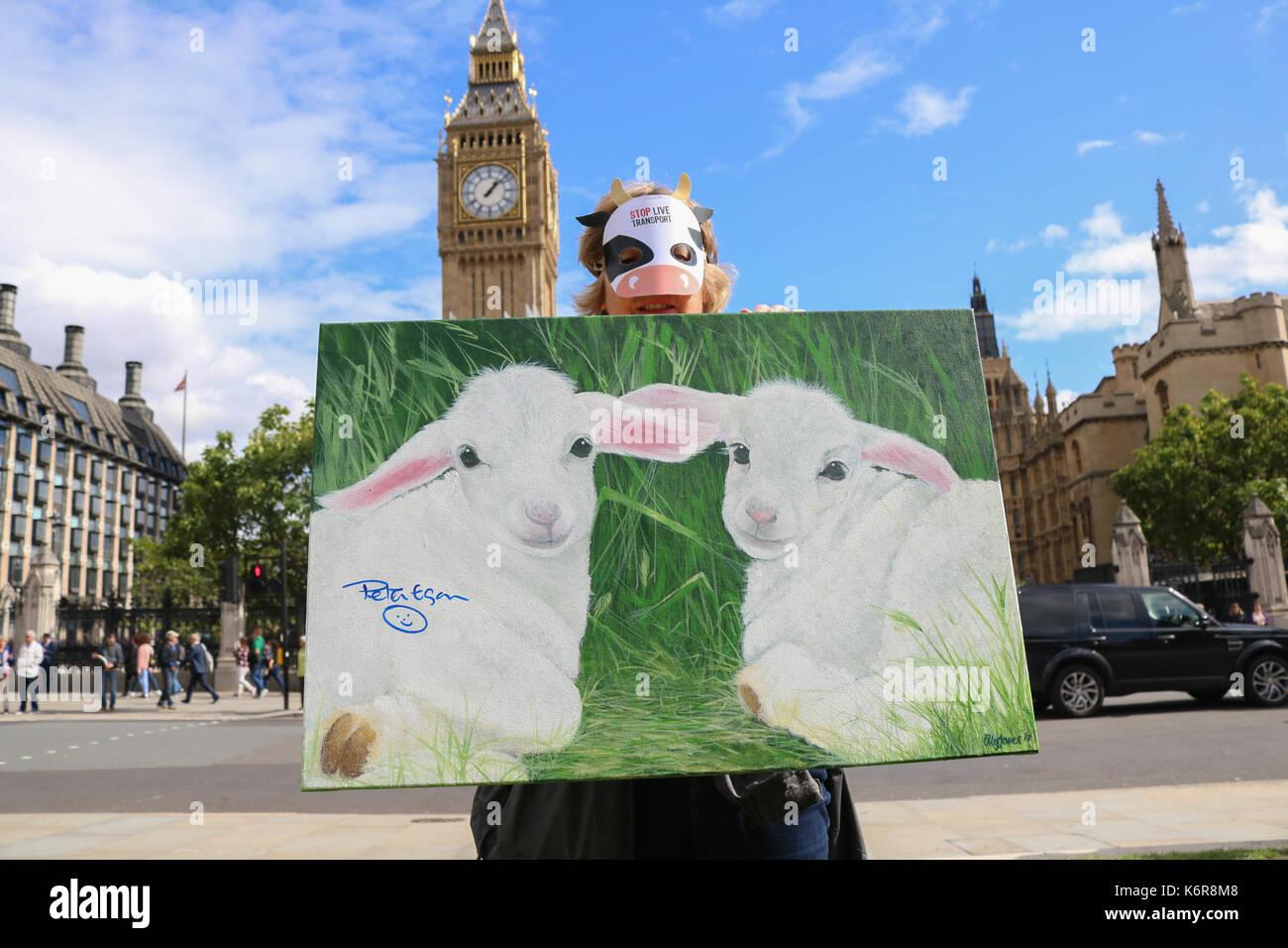 Stop Live Animal Transport International Awareness Stock Photos