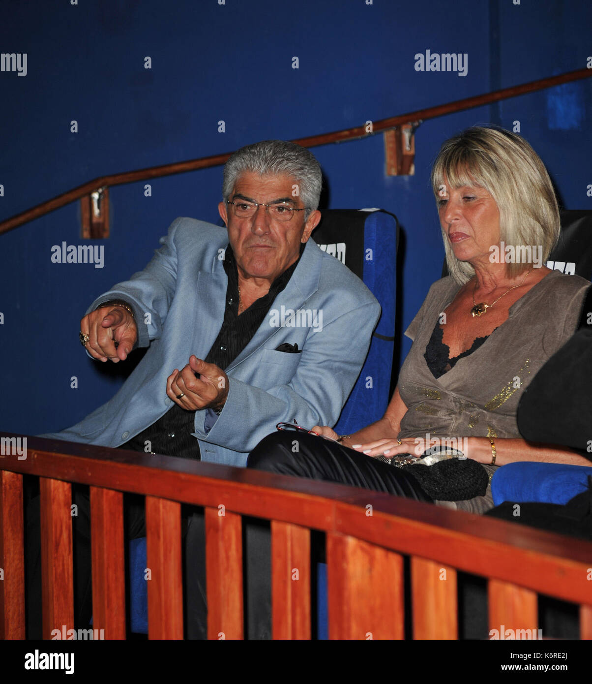 FORT LAUDERDALE, FL - JANUARY 08: Frank Vincent arrives at the screening of Genus On Hold at Cinema Paradiso. GENIUS ON HOLD is a documentary film narrated by Frank Vincent (Goodfellas, Casino, Raging Bull) that tells the epic story of Walter L. Shaw, an engineering genius who, more than half a century ago, invented technology that transformed the rudimentary telephone system of the 1950's into the foundation of today's cutting edge global telecommunications industry. AT&T held a stranglehold monopoly. on January 8, 2009 in Fort Lauderdale, Florida. Credit: mpi122/MediaPunch - Stock Image