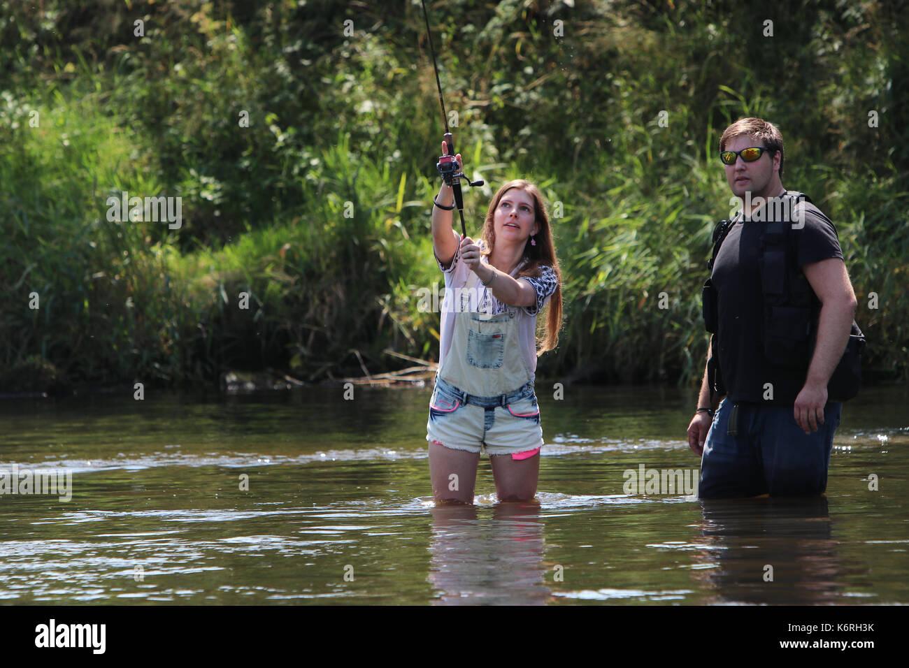 Girl Fly Fishing Stock Photos   Girl Fly Fishing Stock Images - Alamy 272e85e2ca86