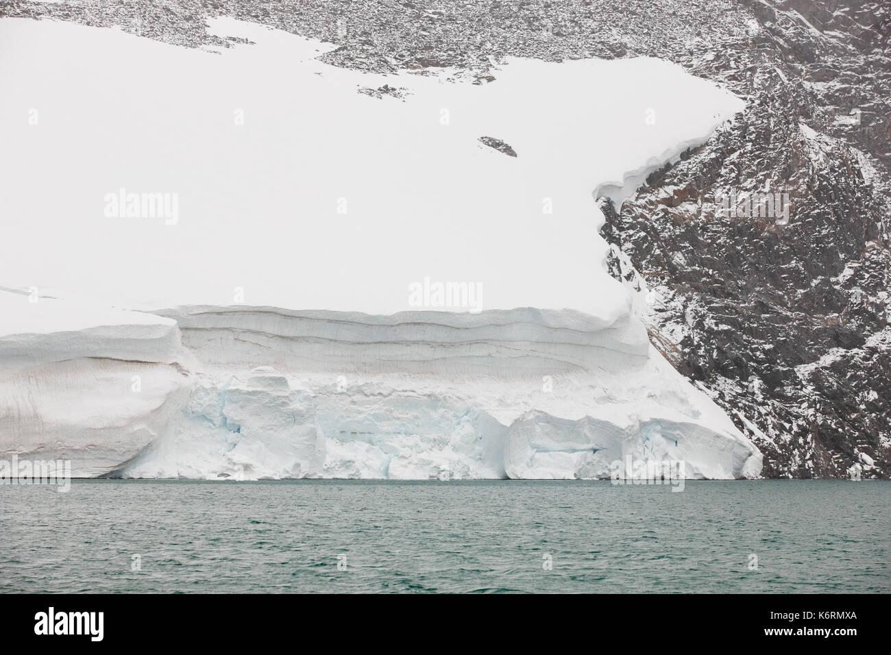 Galdhopiggen glacier. Jotunheimen national park. Route 55. Norwegian winter landscape - Stock Image