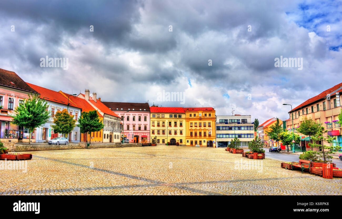 Buildings in the old town of Trebic, Czech Republic - Stock Image