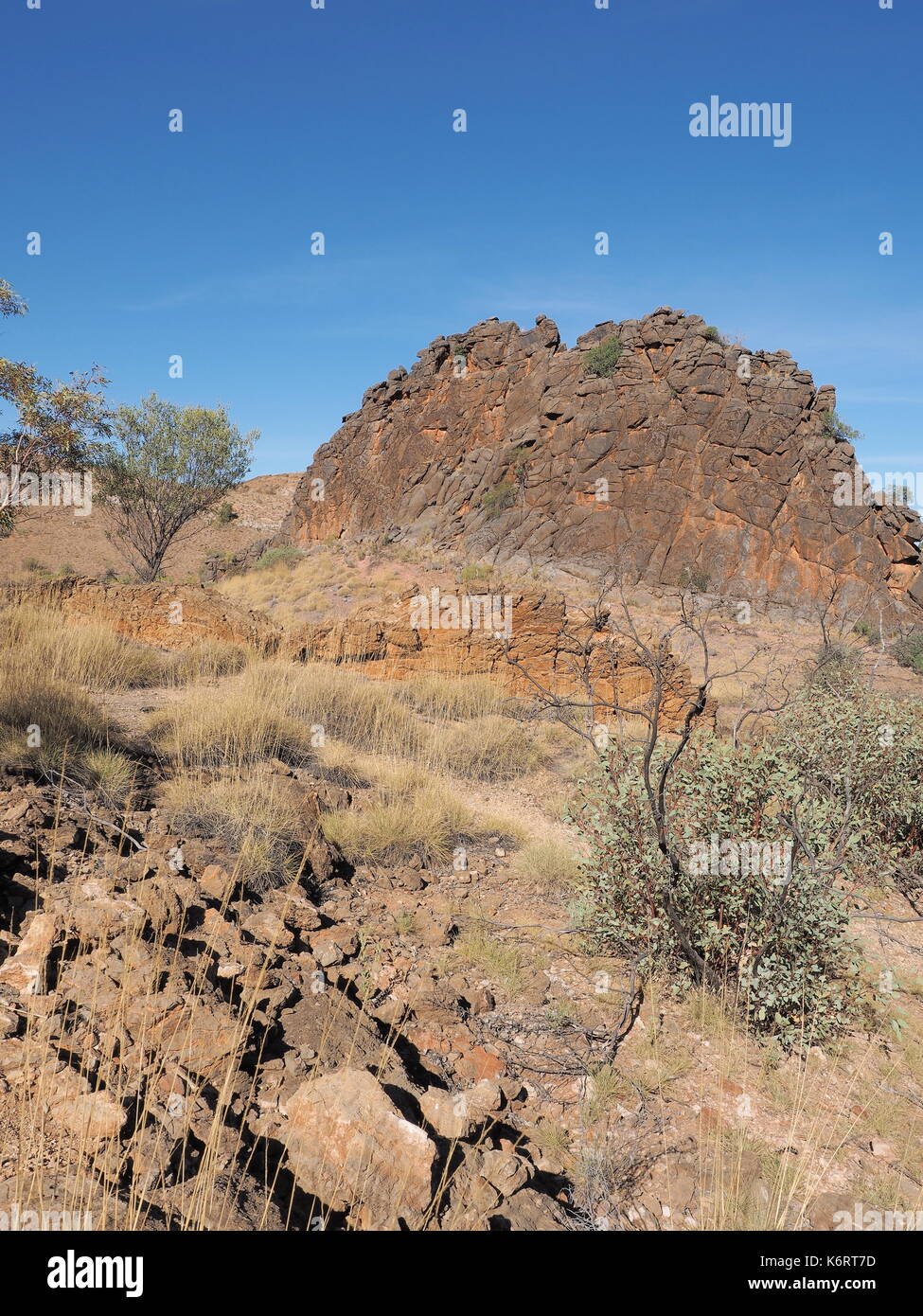 The Corroborree Rock near the Ross Highway, east of Alice Springs, Northern Territory, Australia 2017 - Stock Image