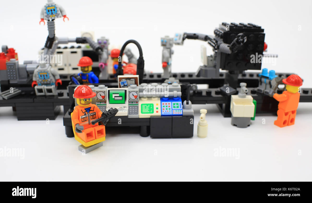 robot production line - Stock Image